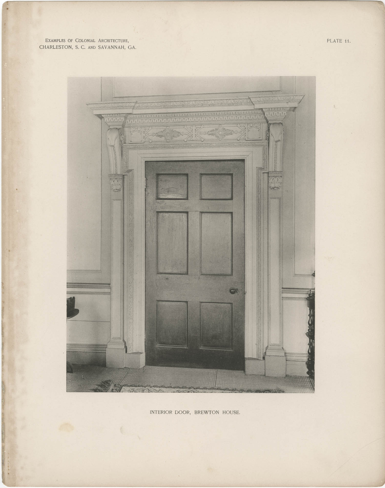 Plate 11: Interior Door, Brewton House