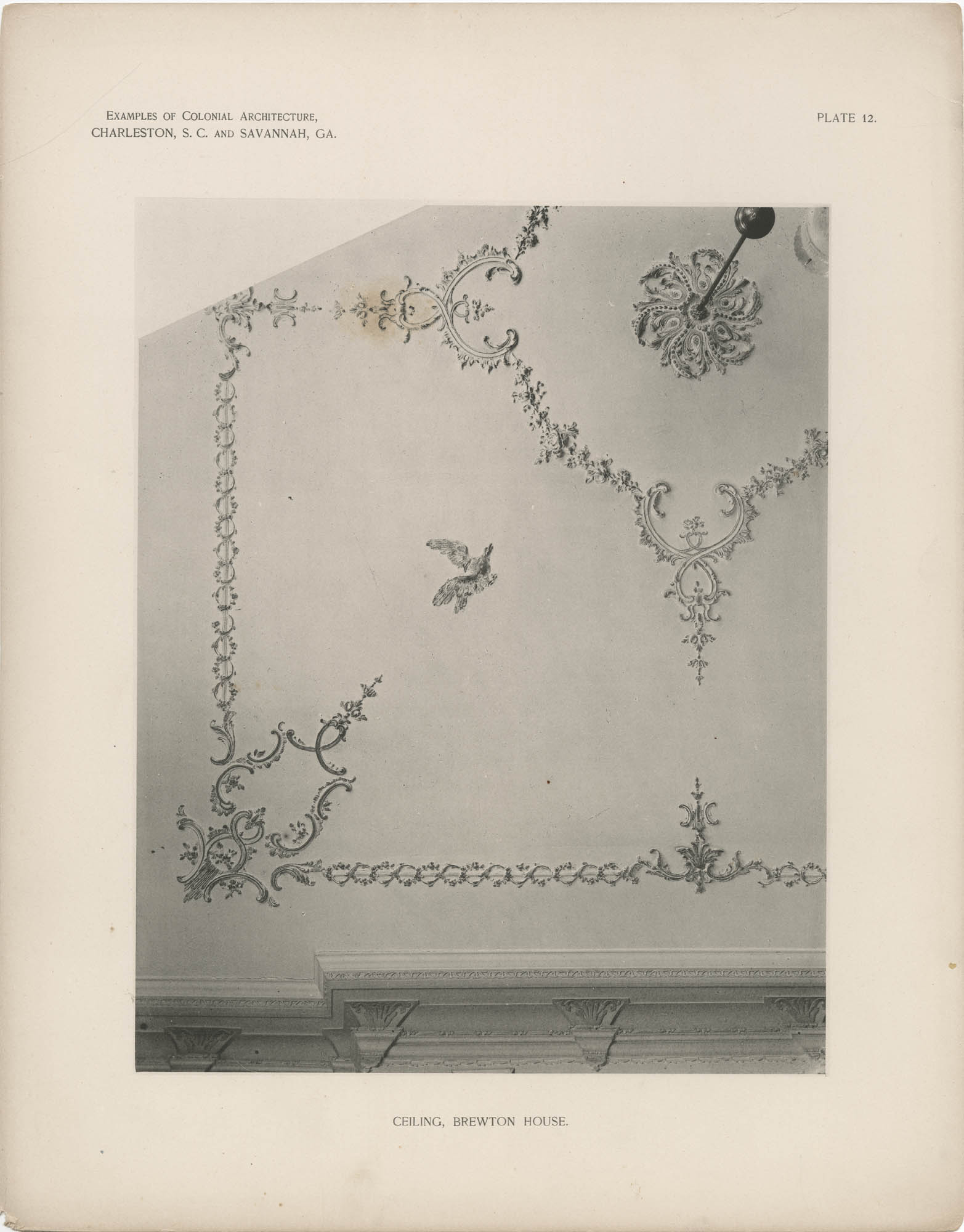 Plate 12: Ceiling, Brewton House