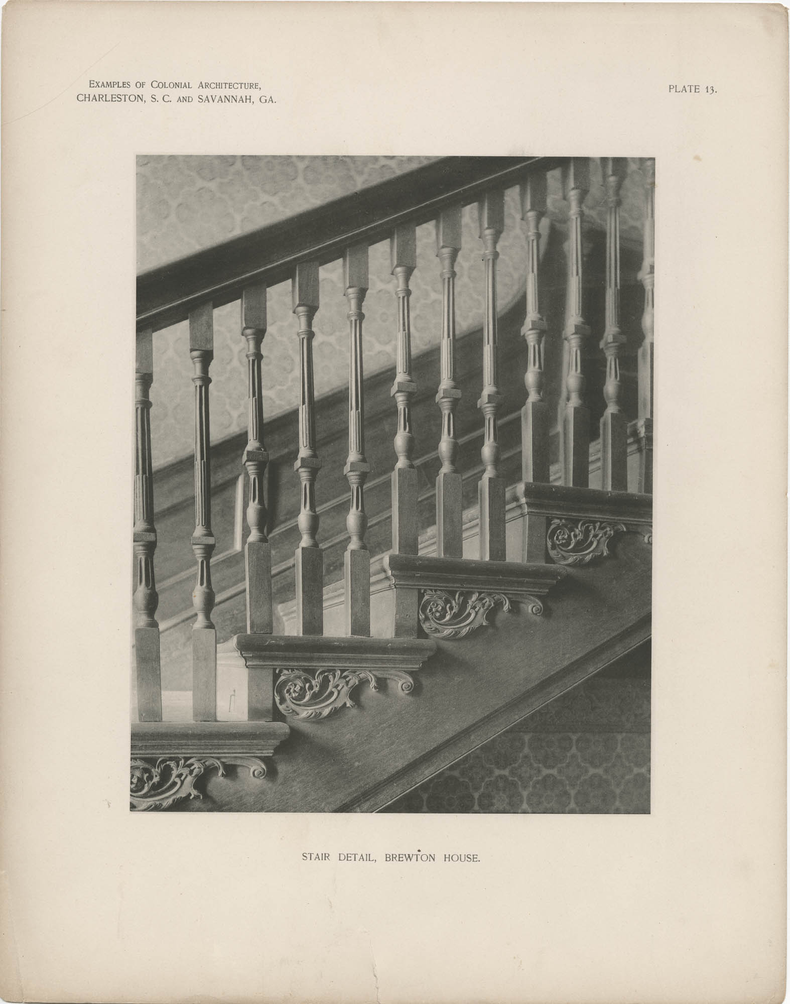 Plate 13: Stair Detail, Brewton House