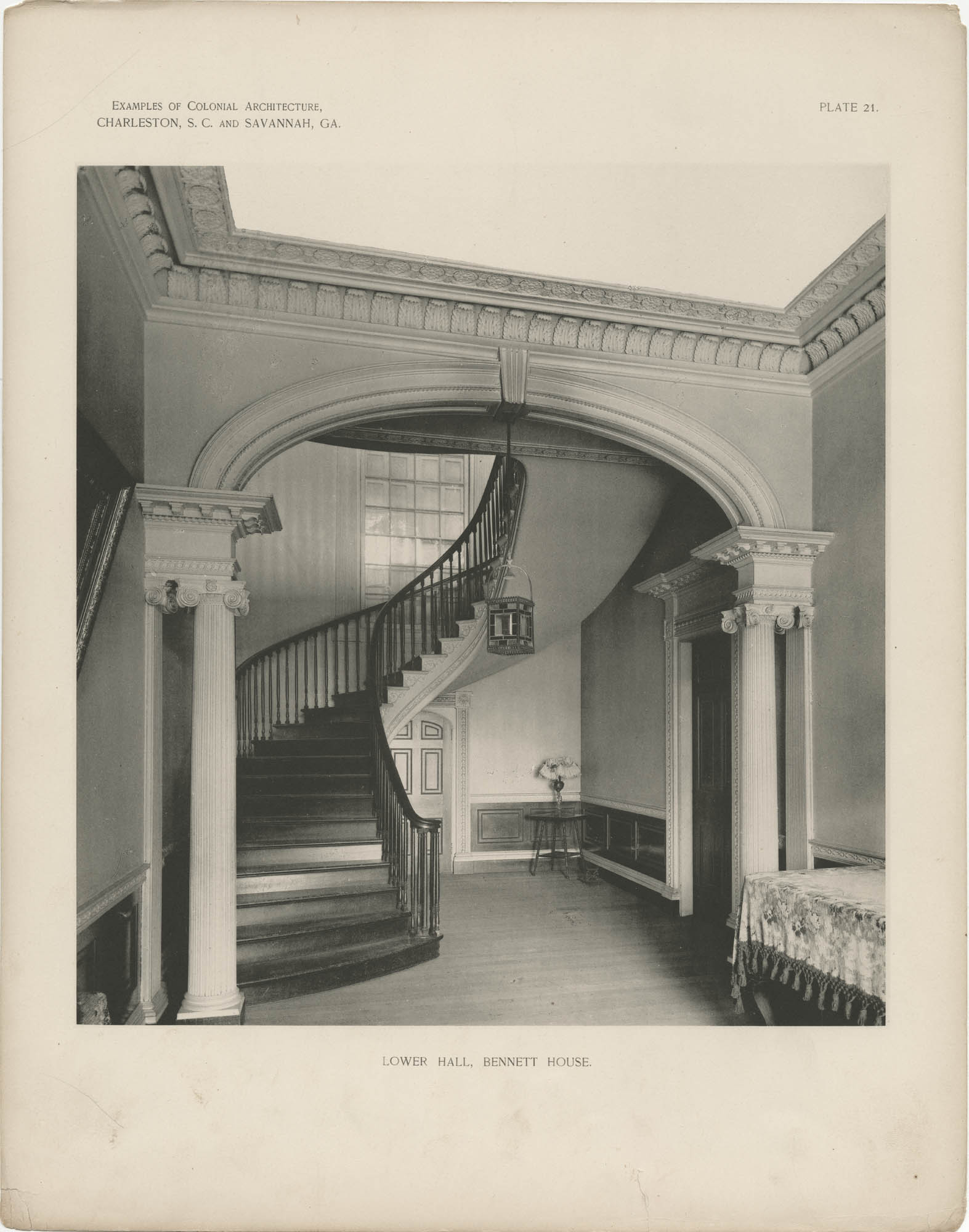 Plate 21: Lower Hall, Bennett House