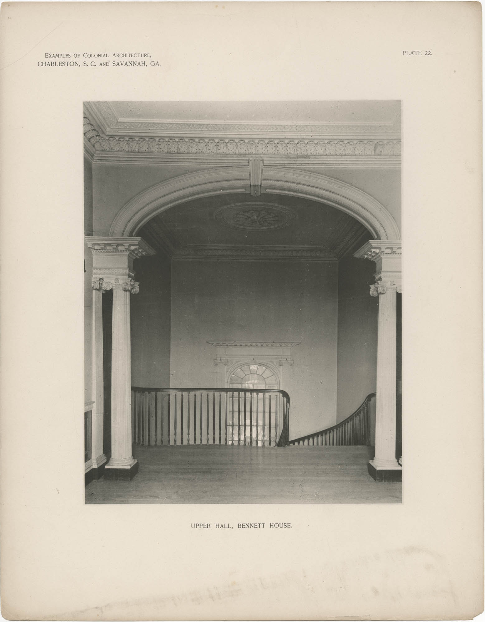 Plate 22: Upper Hall, Bennett House
