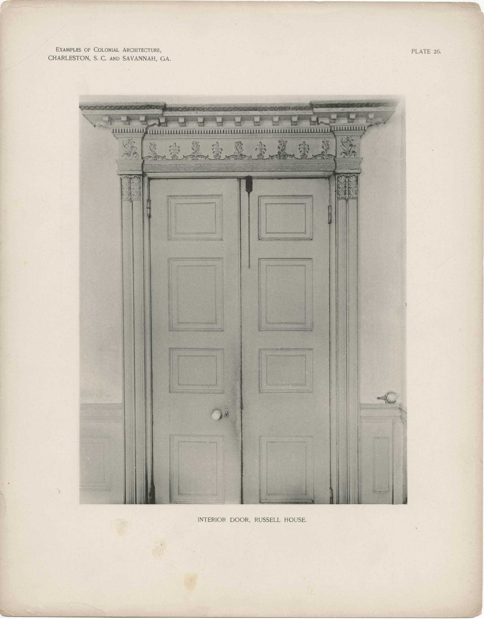 Plate 26: Interior Door, Russell House