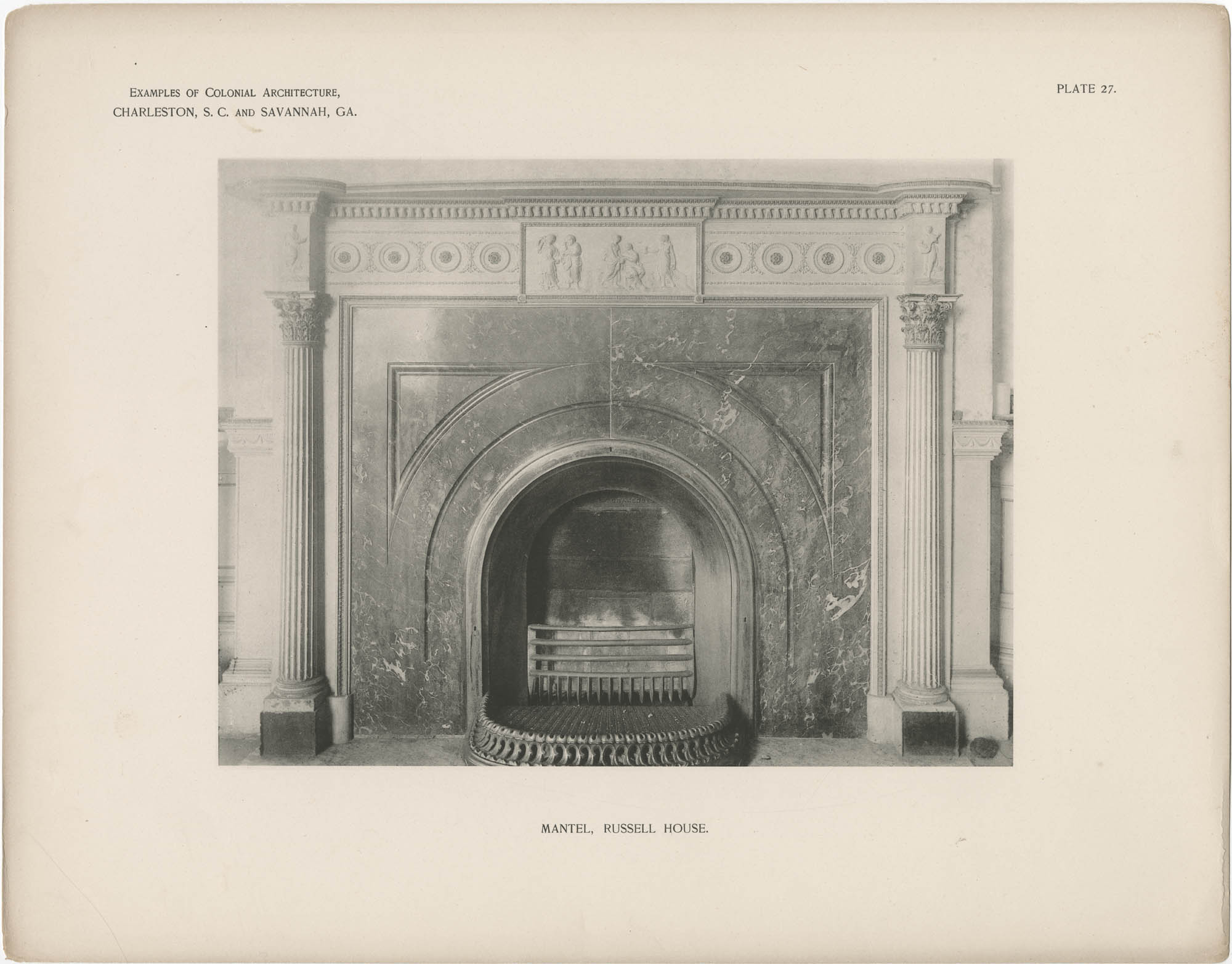 Plate 27: Mantel, Russell House