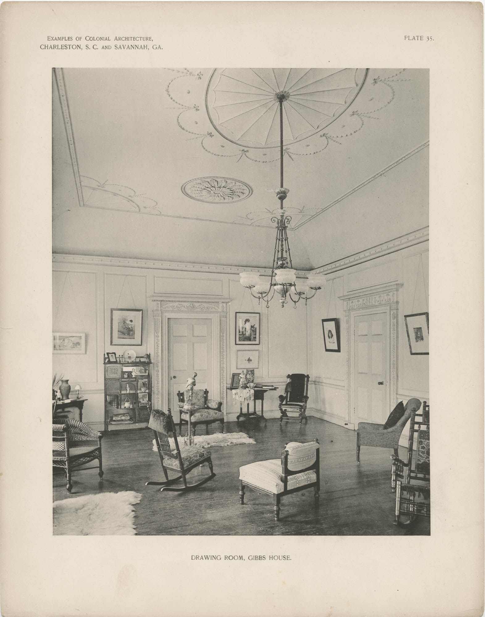 Plate 35: Drawing Room, Gibbs [sic] House