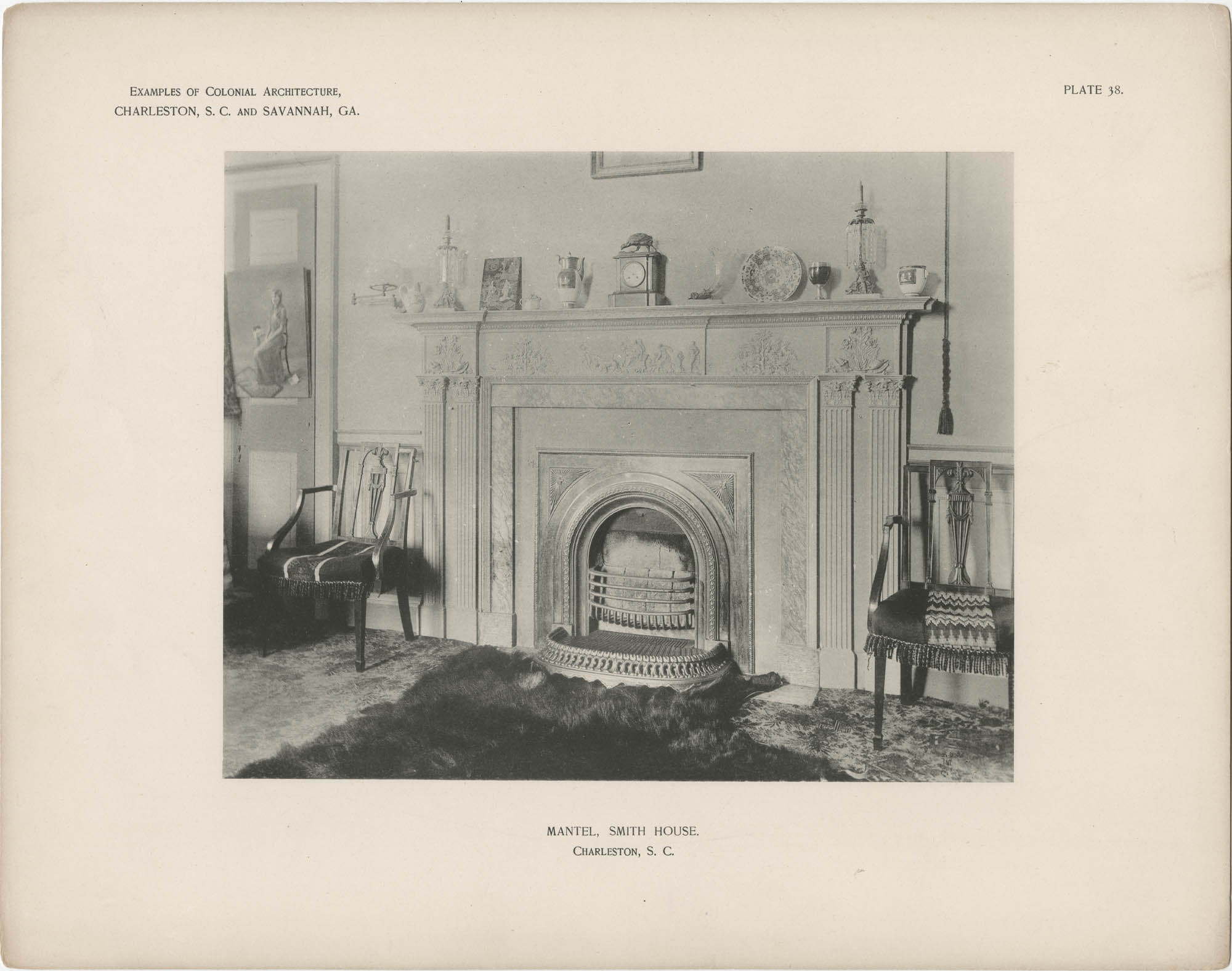 Plate 38: Mantel, Smith House, Charleston, S.C.