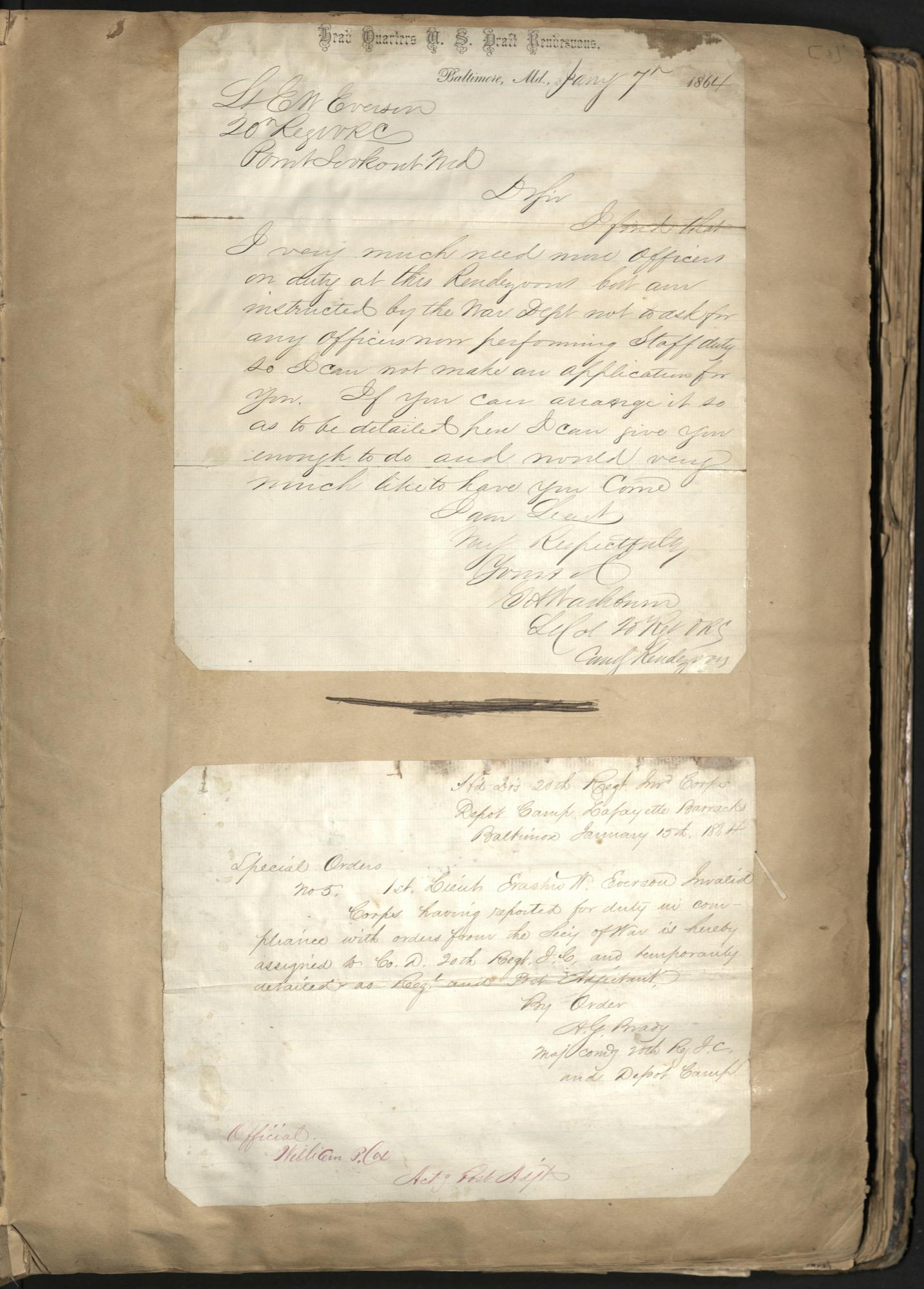 Erastus Everson Diary 1861-1893, page 7