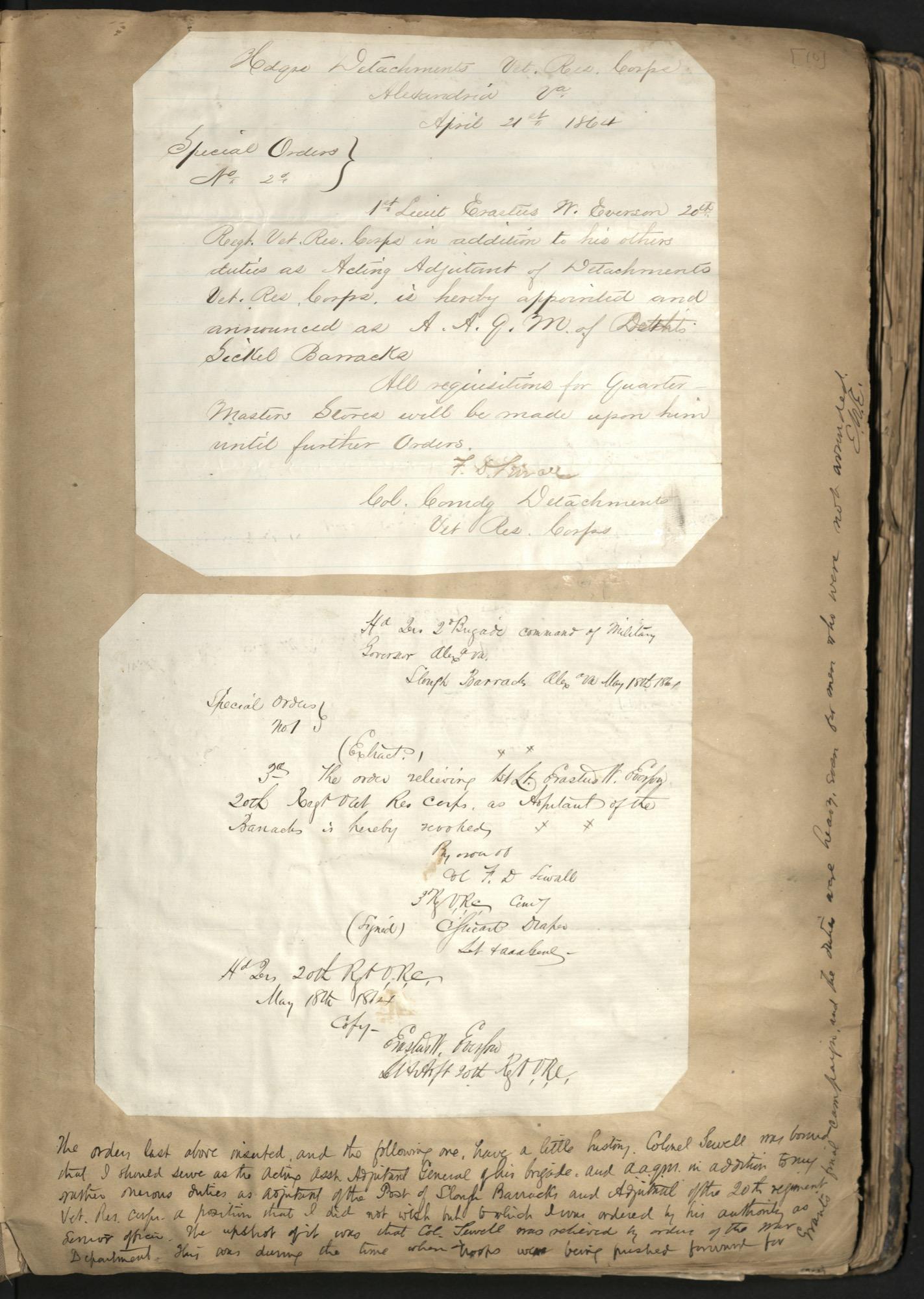 Erastus Everson Diary 1861-1893, page 9