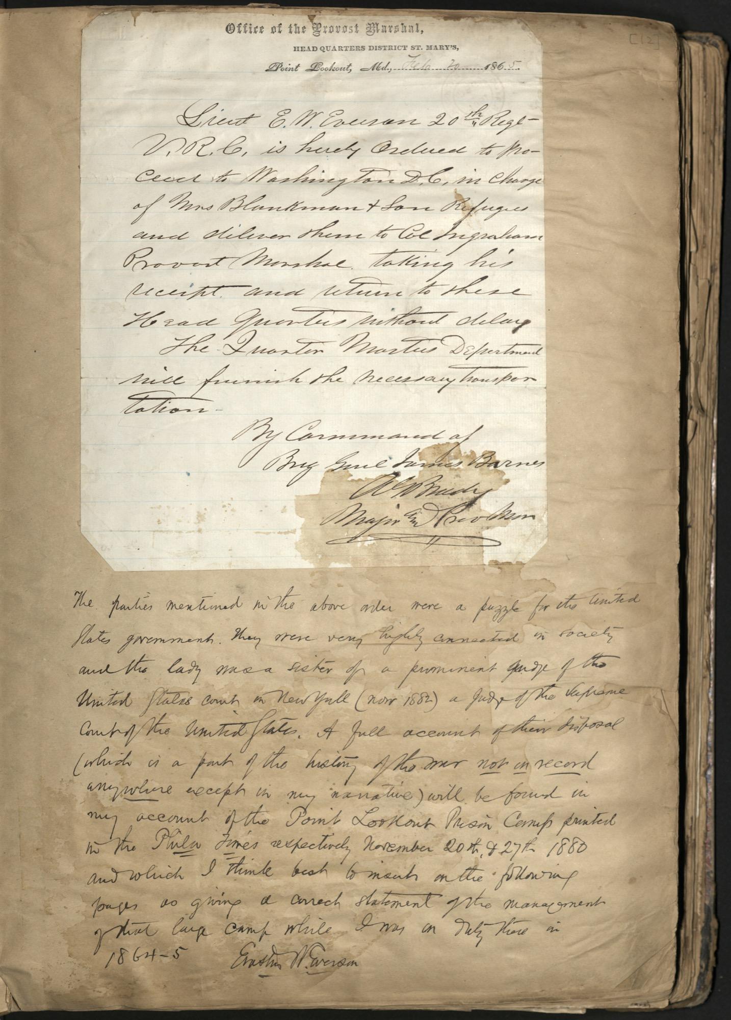 Erastus Everson Diary 1861-1893, page 11