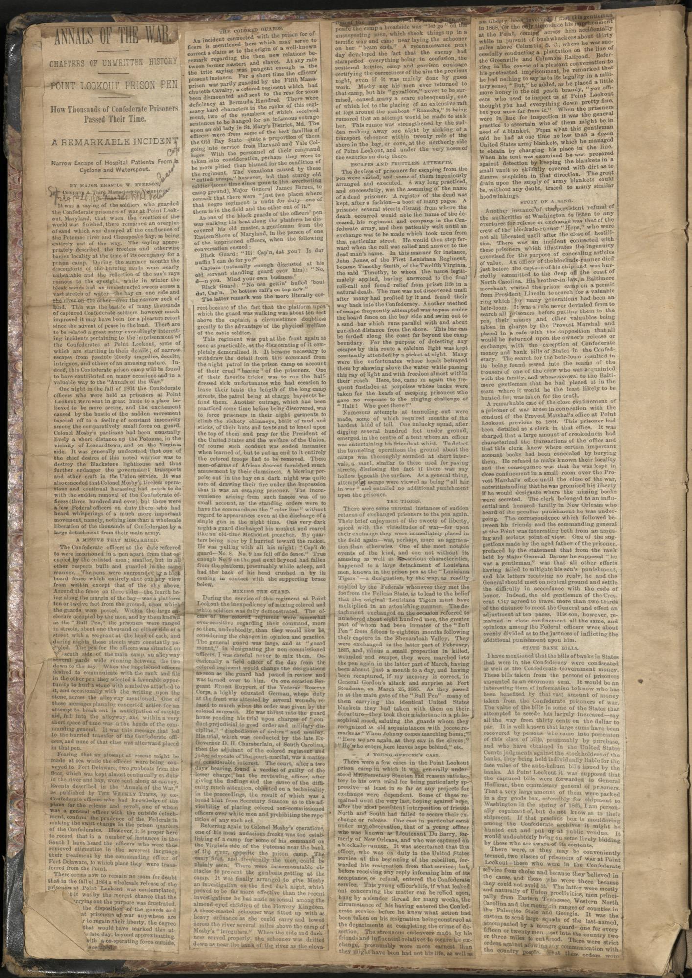 Erastus Everson Diary 1861-1893, page 12