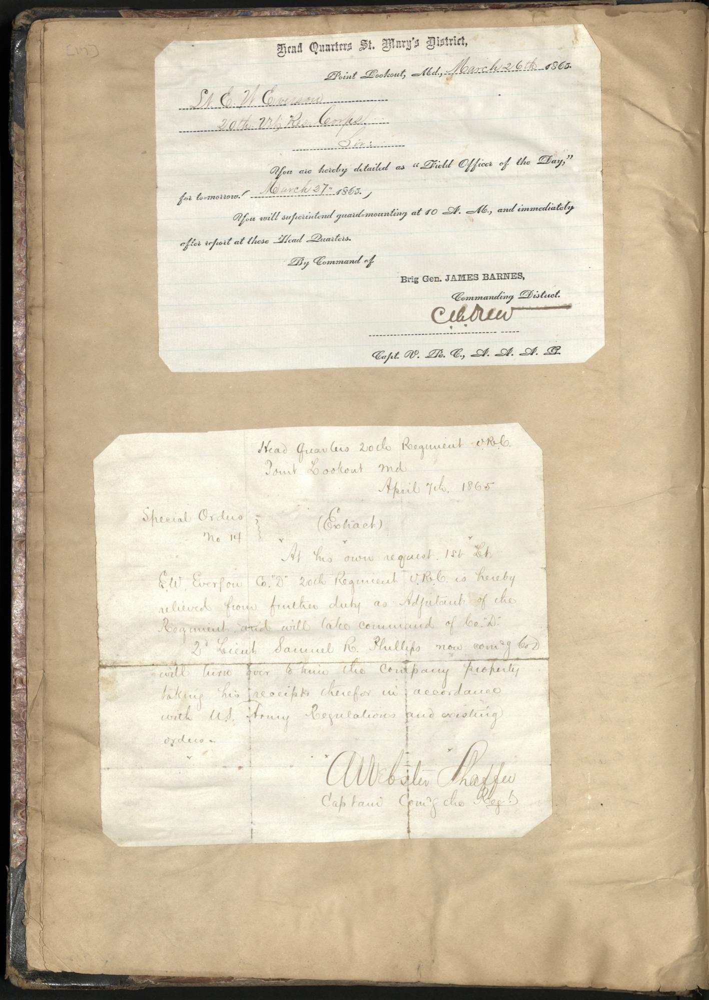 Erastus Everson Diary 1861-1893, page 16