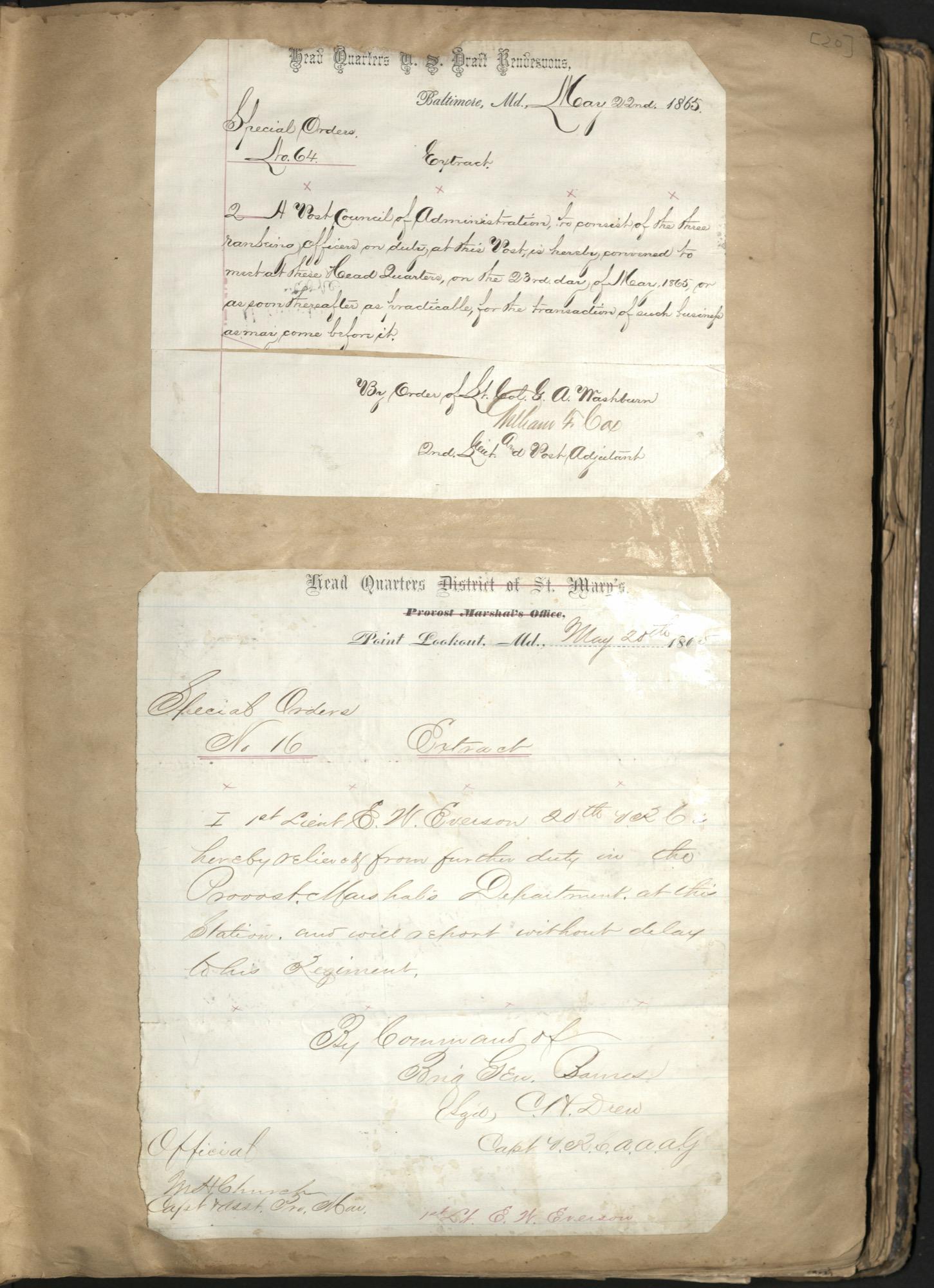 Erastus Everson Diary 1861-1893, page 19