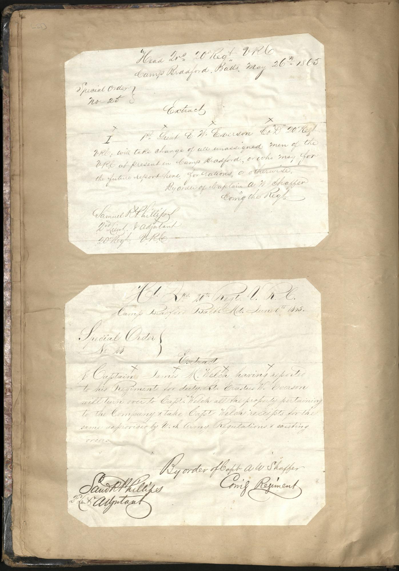 Erastus Everson Diary 1861-1893, page 20