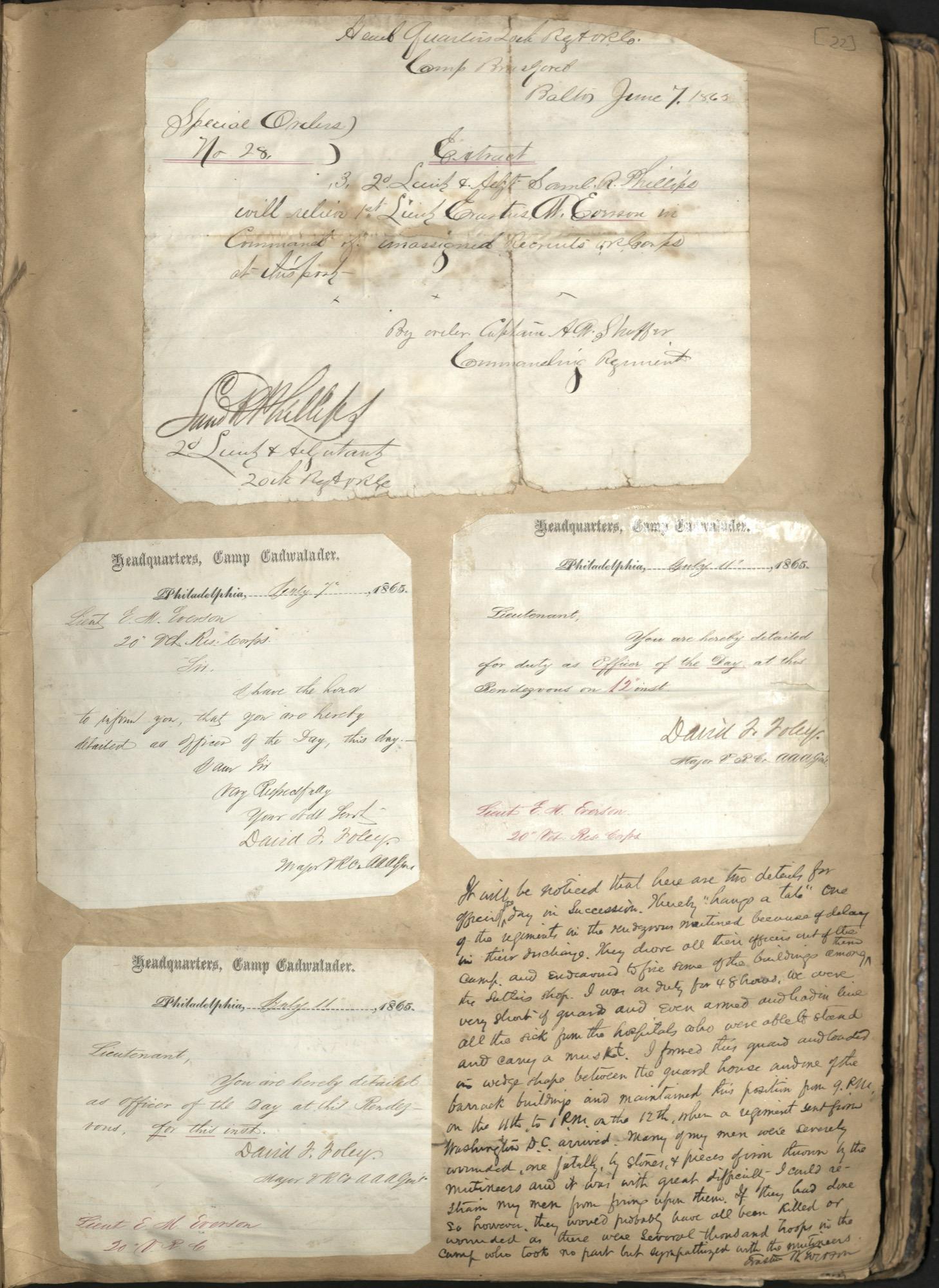 Erastus Everson Diary 1861-1893, page 21