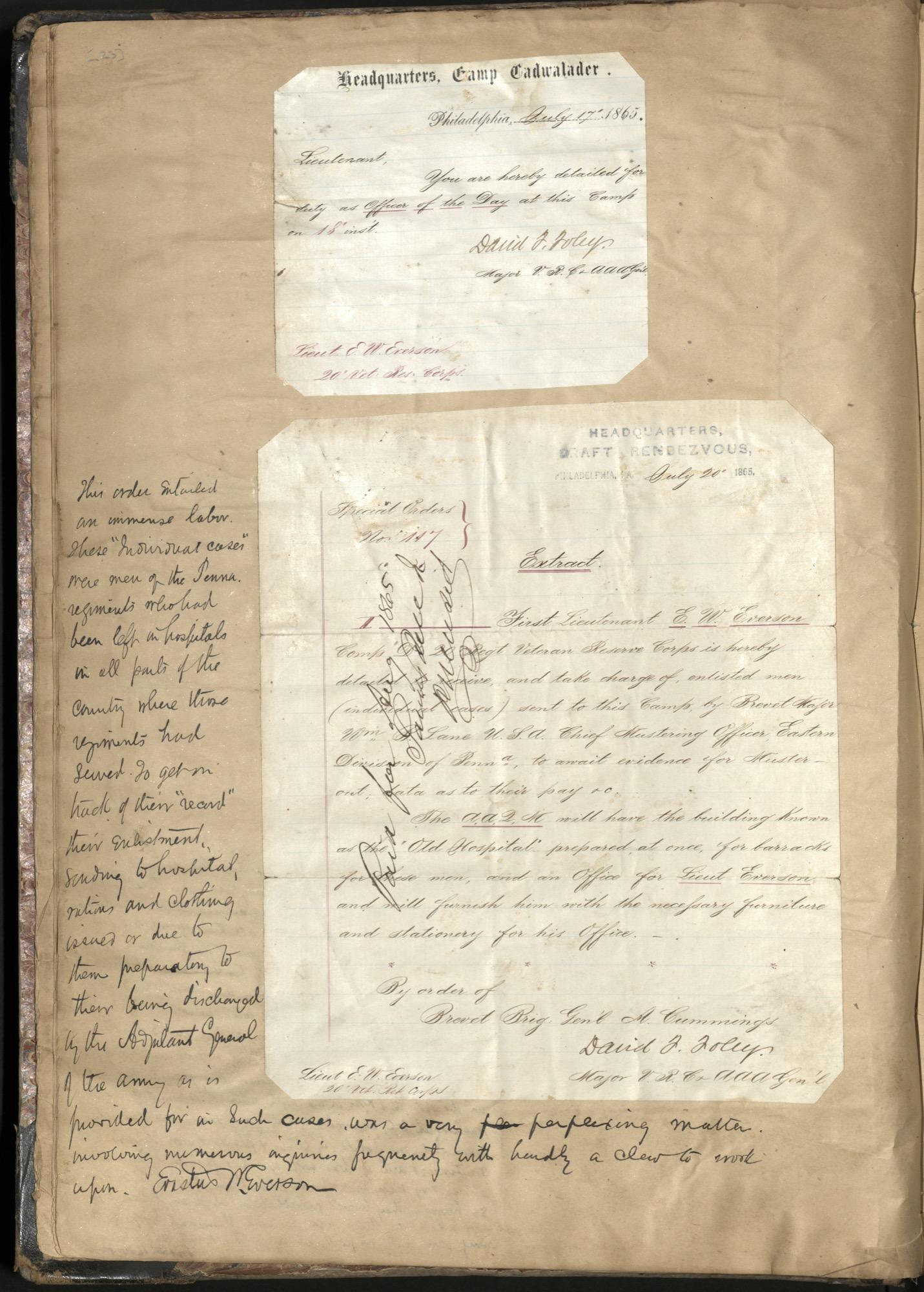 Erastus Everson Diary 1861-1893, page 22