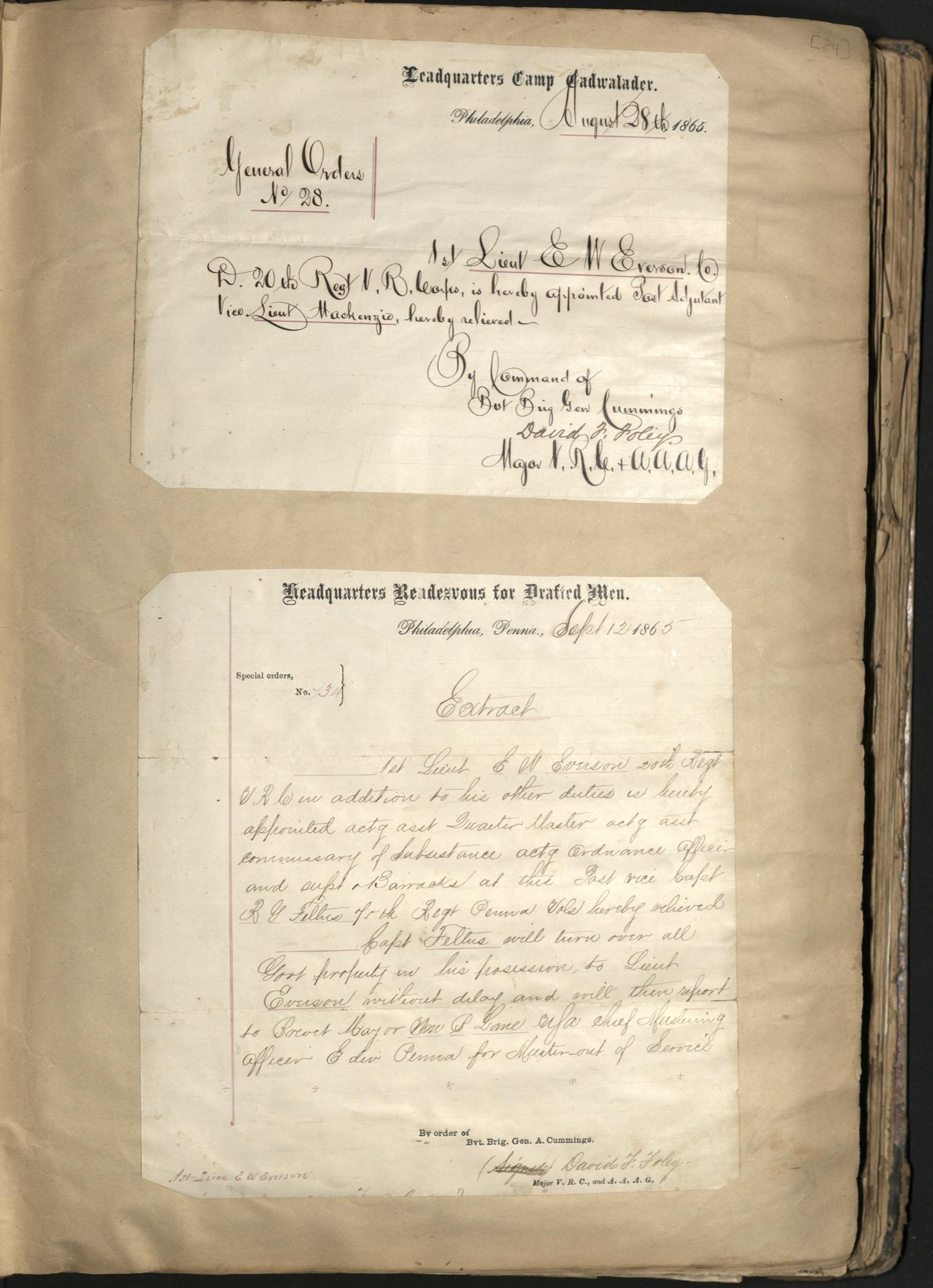 Erastus Everson Diary 1861-1893, page 23
