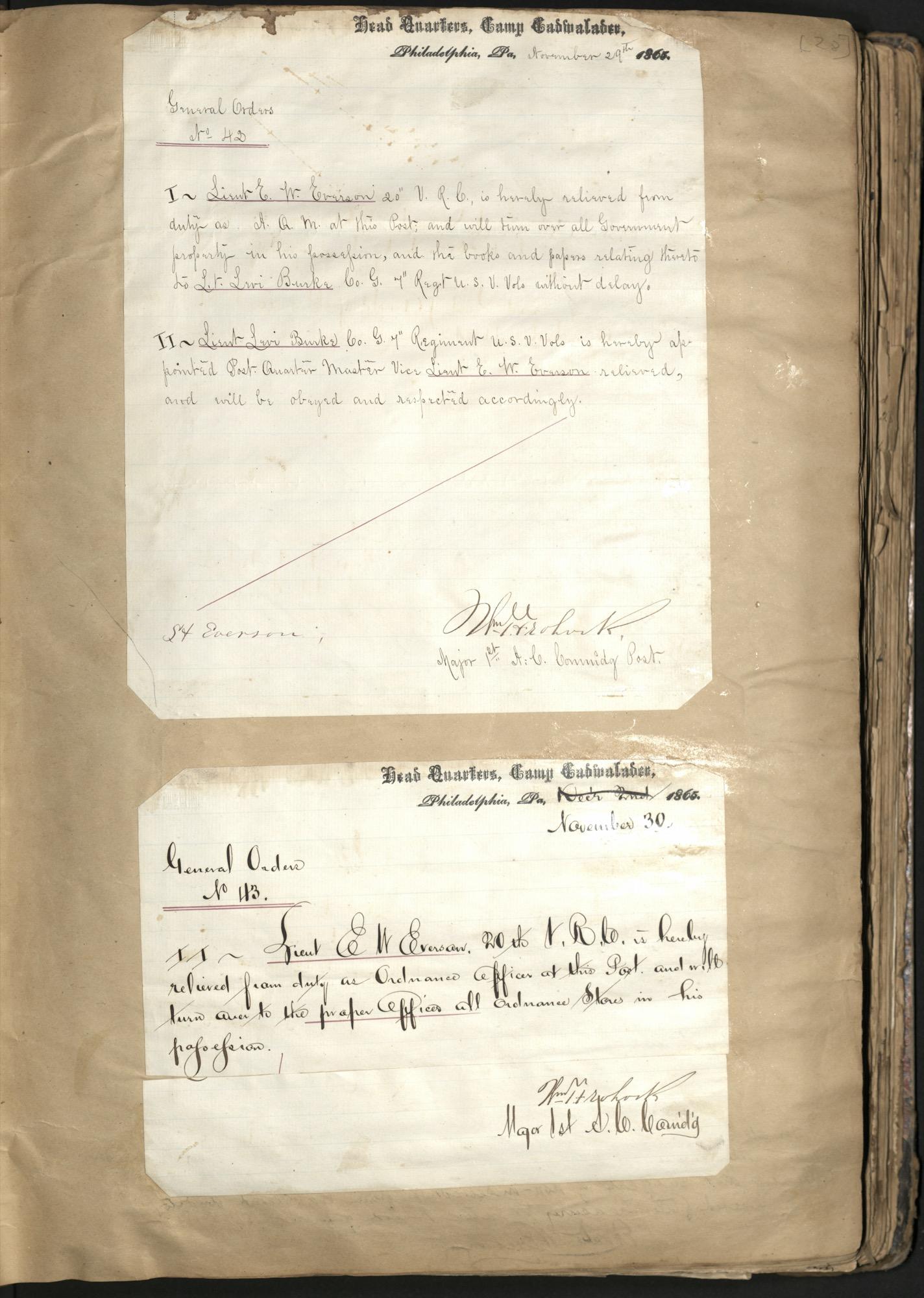 Erastus Everson Diary 1861-1893, page 27