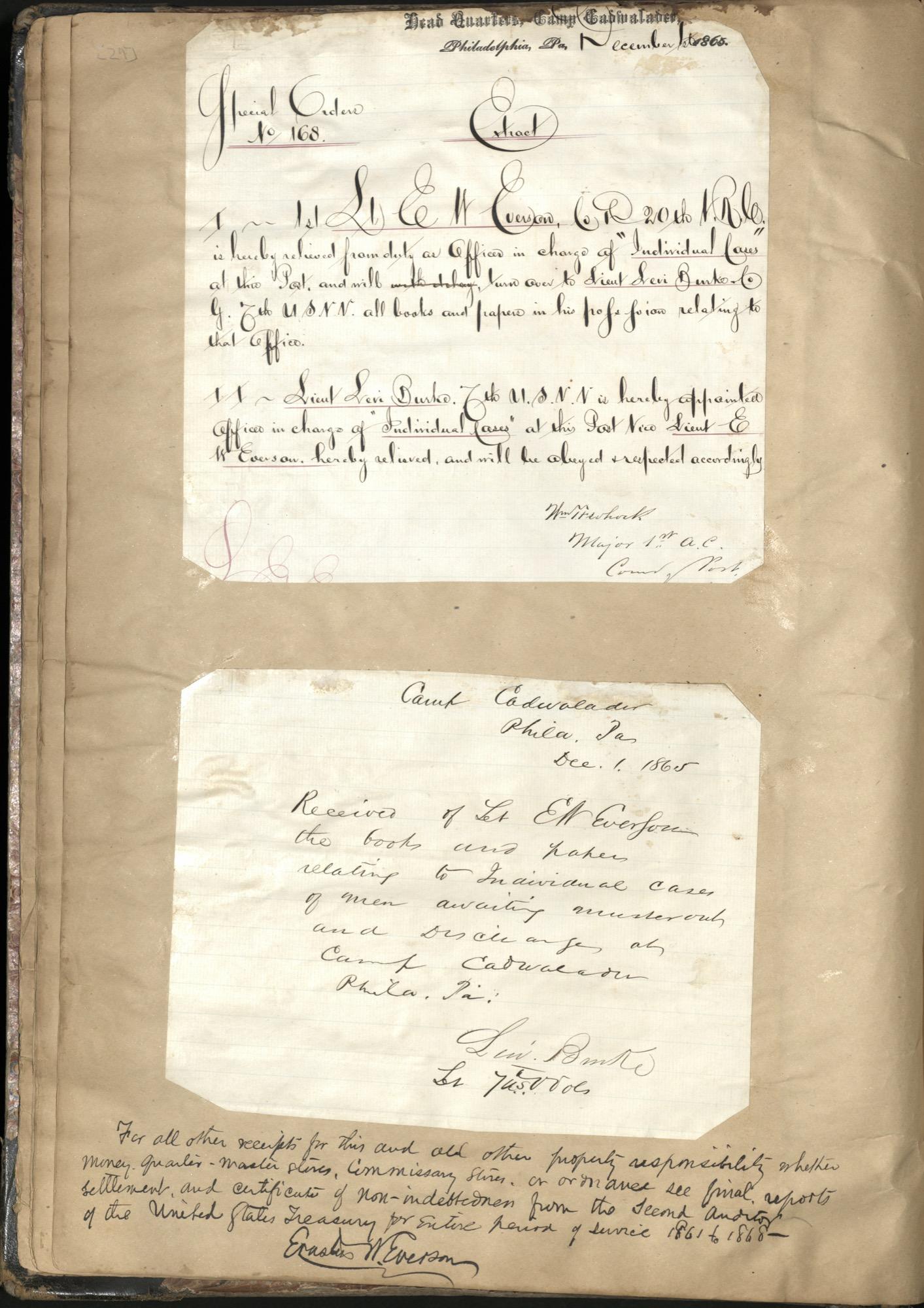 Erastus Everson Diary 1861-1893, page 28