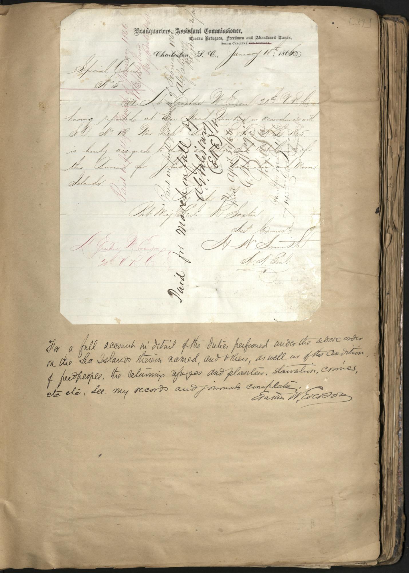 Erastus Everson Diary 1861-1893, page 33