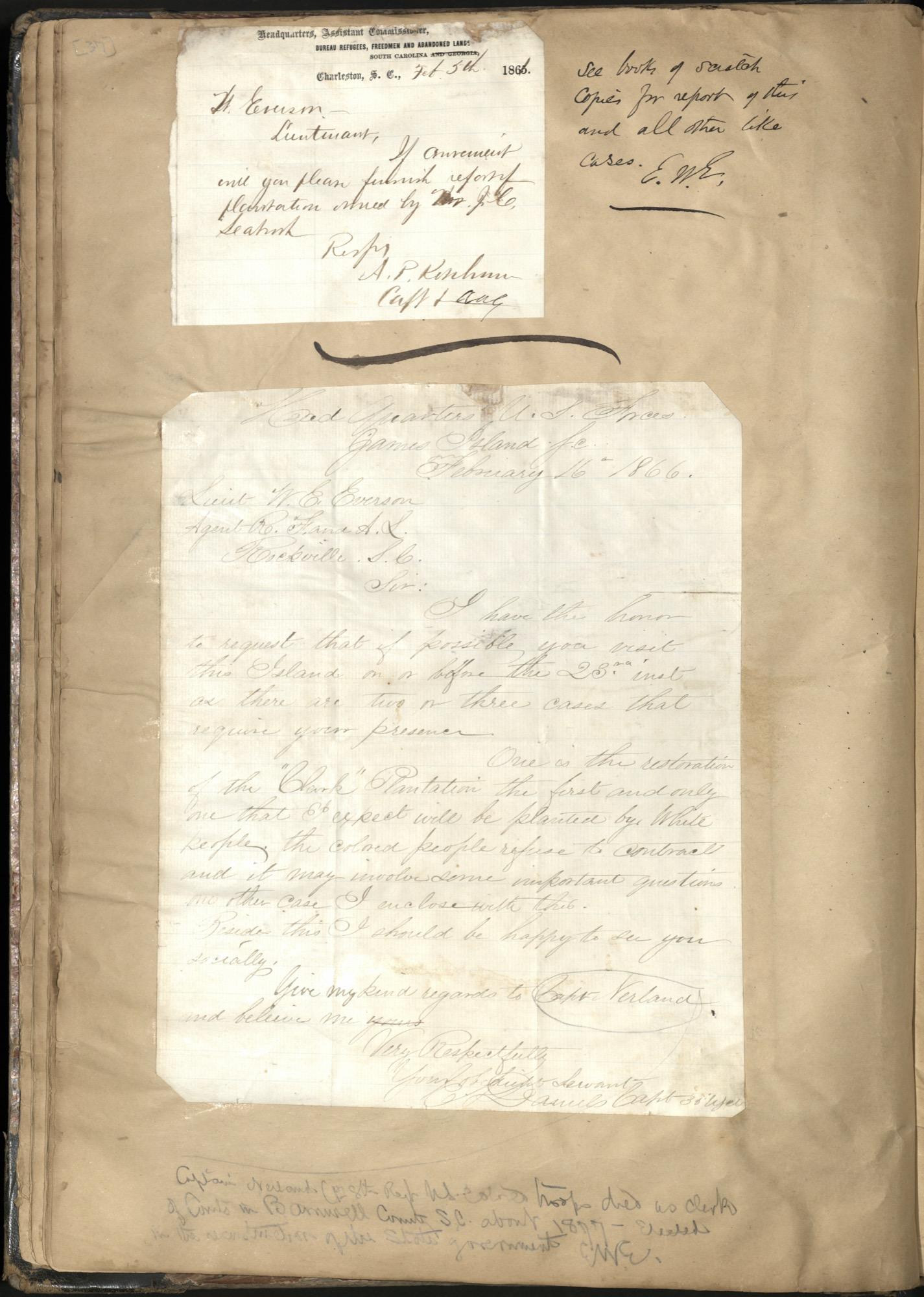 Erastus Everson Diary 1861-1893, page 36