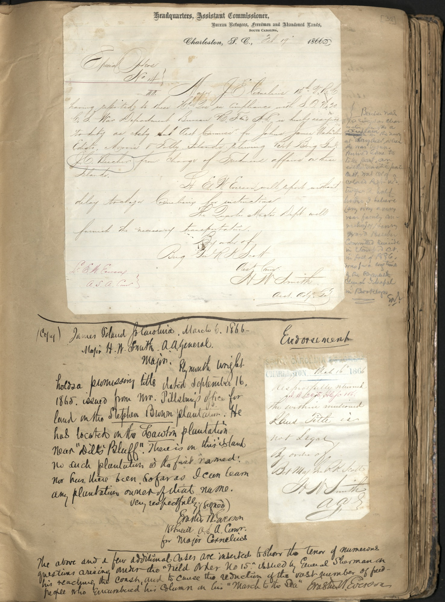 Erastus Everson Diary 1861-1893, page 37