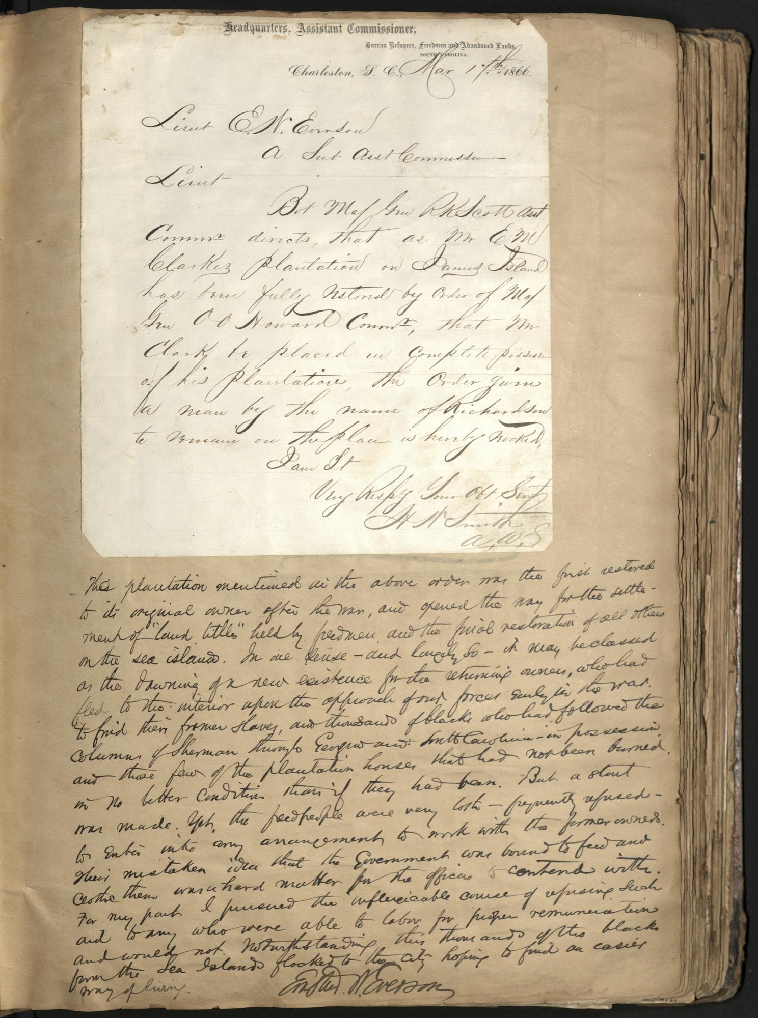 Erastus Everson Diary 1861-1893, page 43
