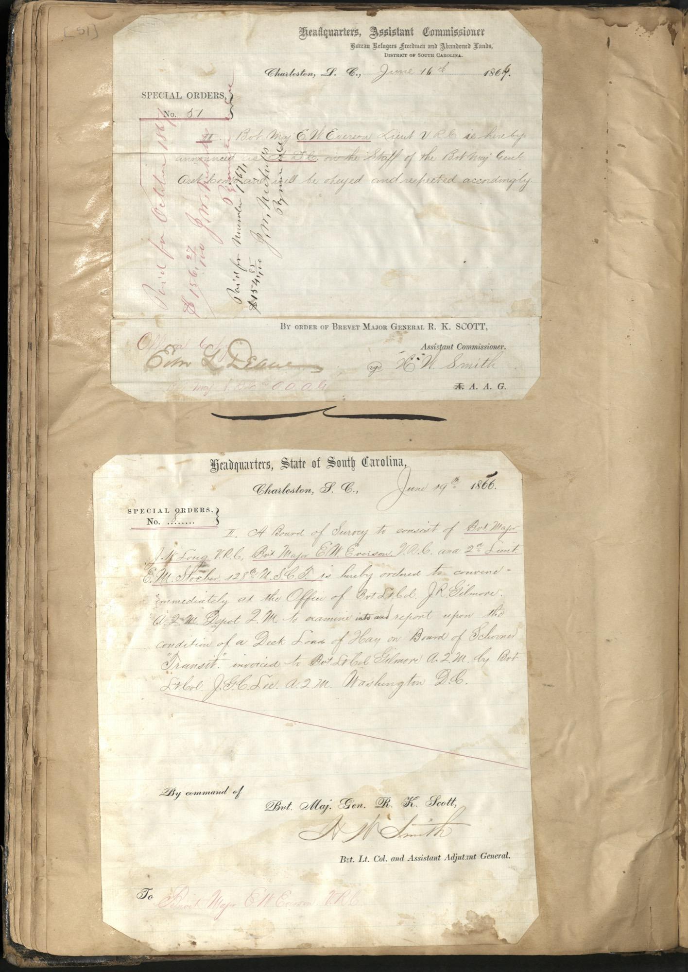 Erastus Everson Diary 1861-1893, page 50