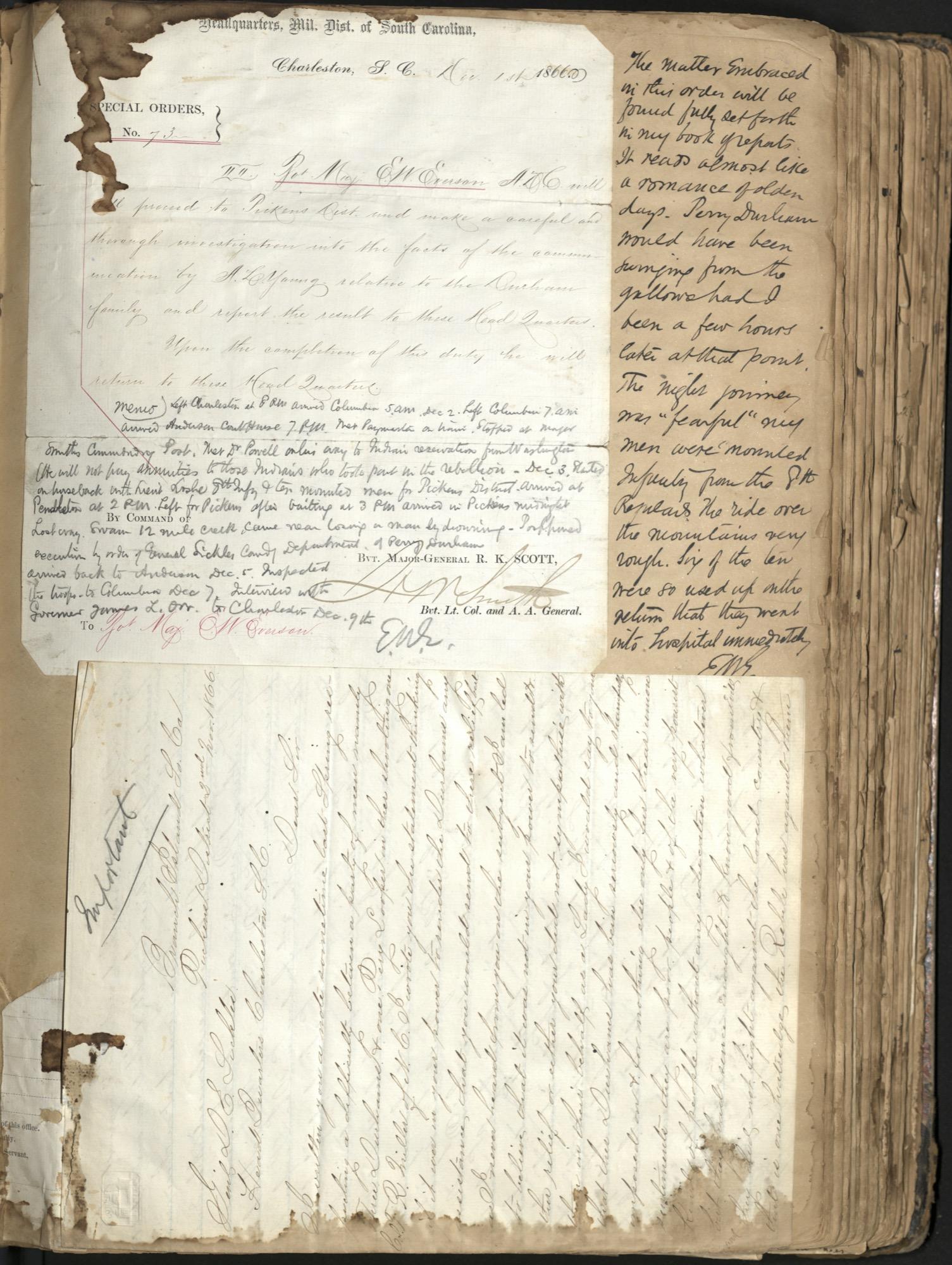 Erastus Everson Diary 1861-1893, page 55