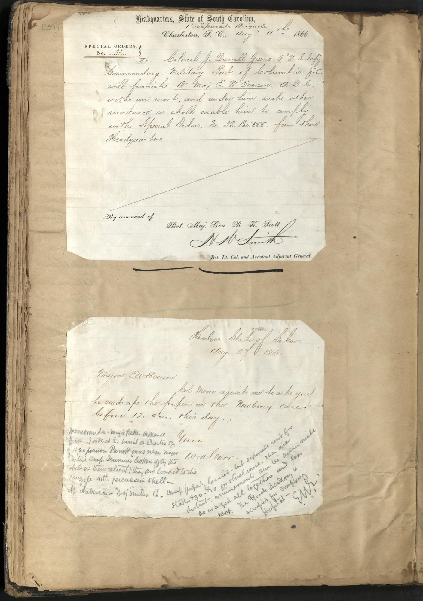 Erastus Everson Diary 1861-1893, page 58