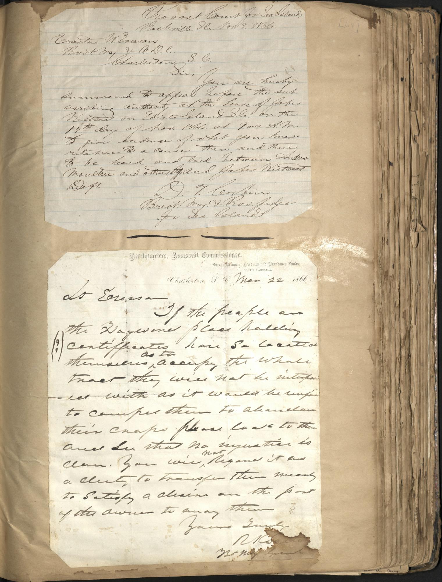 Erastus Everson Diary 1861-1893, page 63