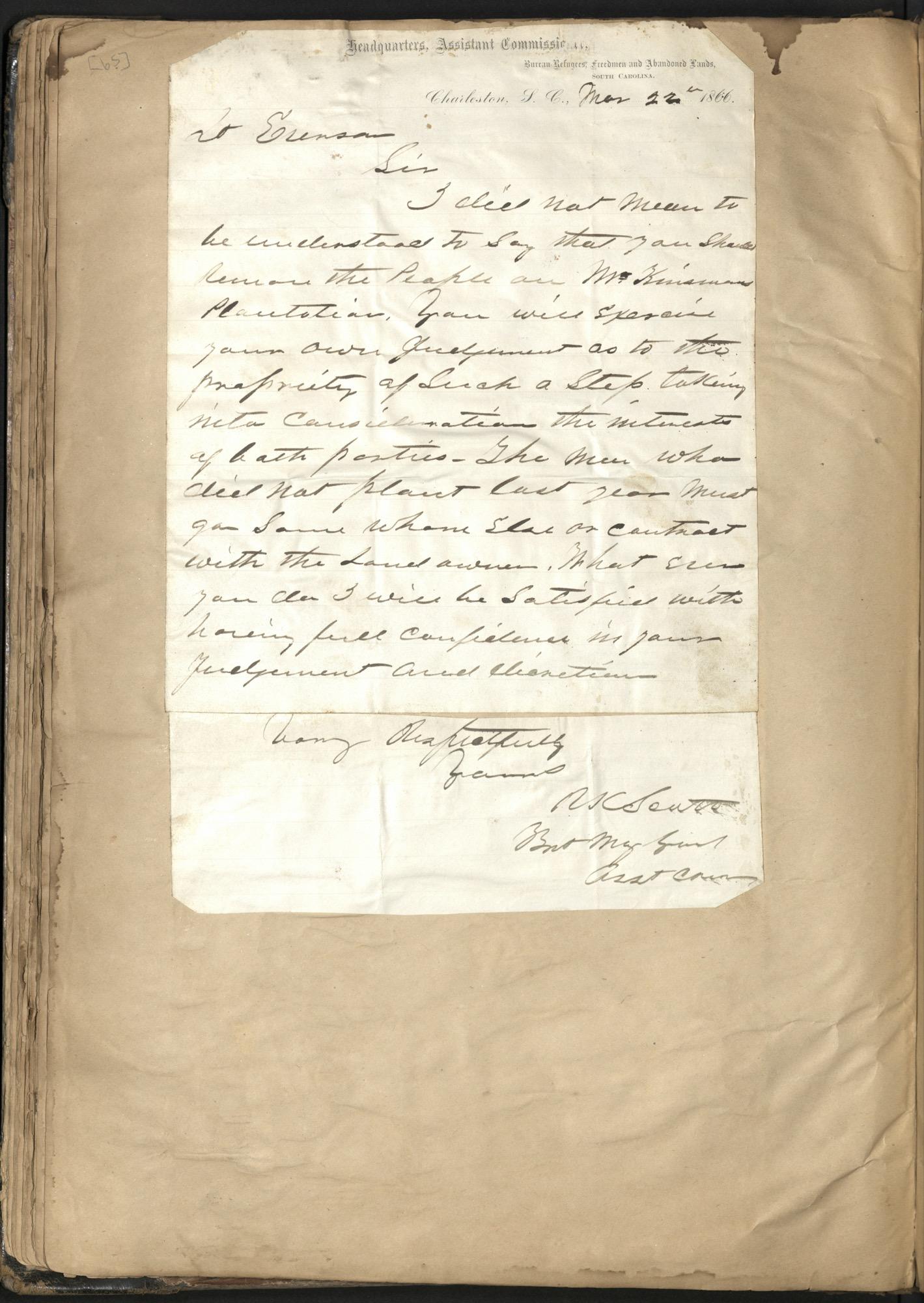 Erastus Everson Diary 1861-1893, page 64