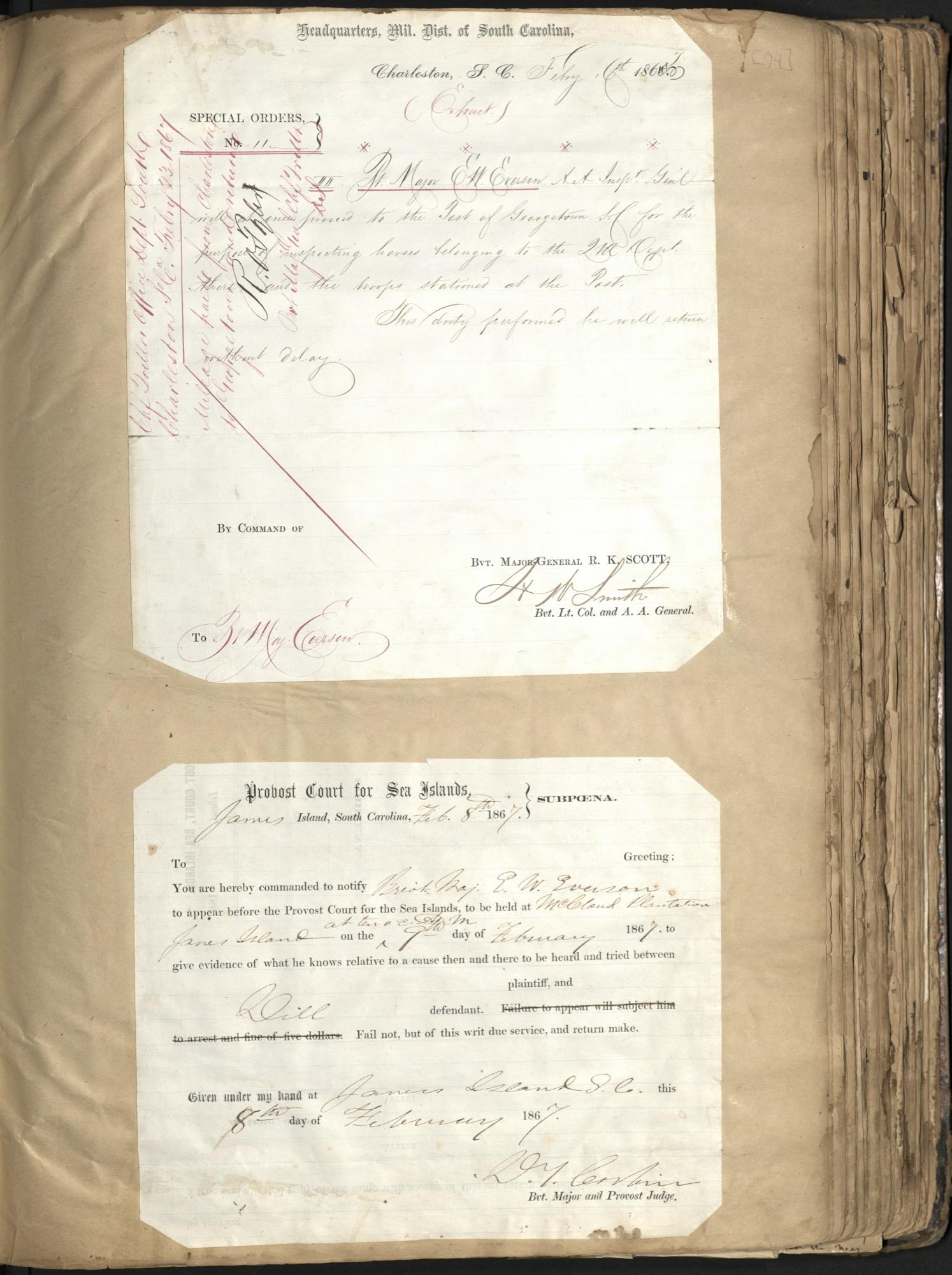 Erastus Everson Diary 1861-1893, page 73