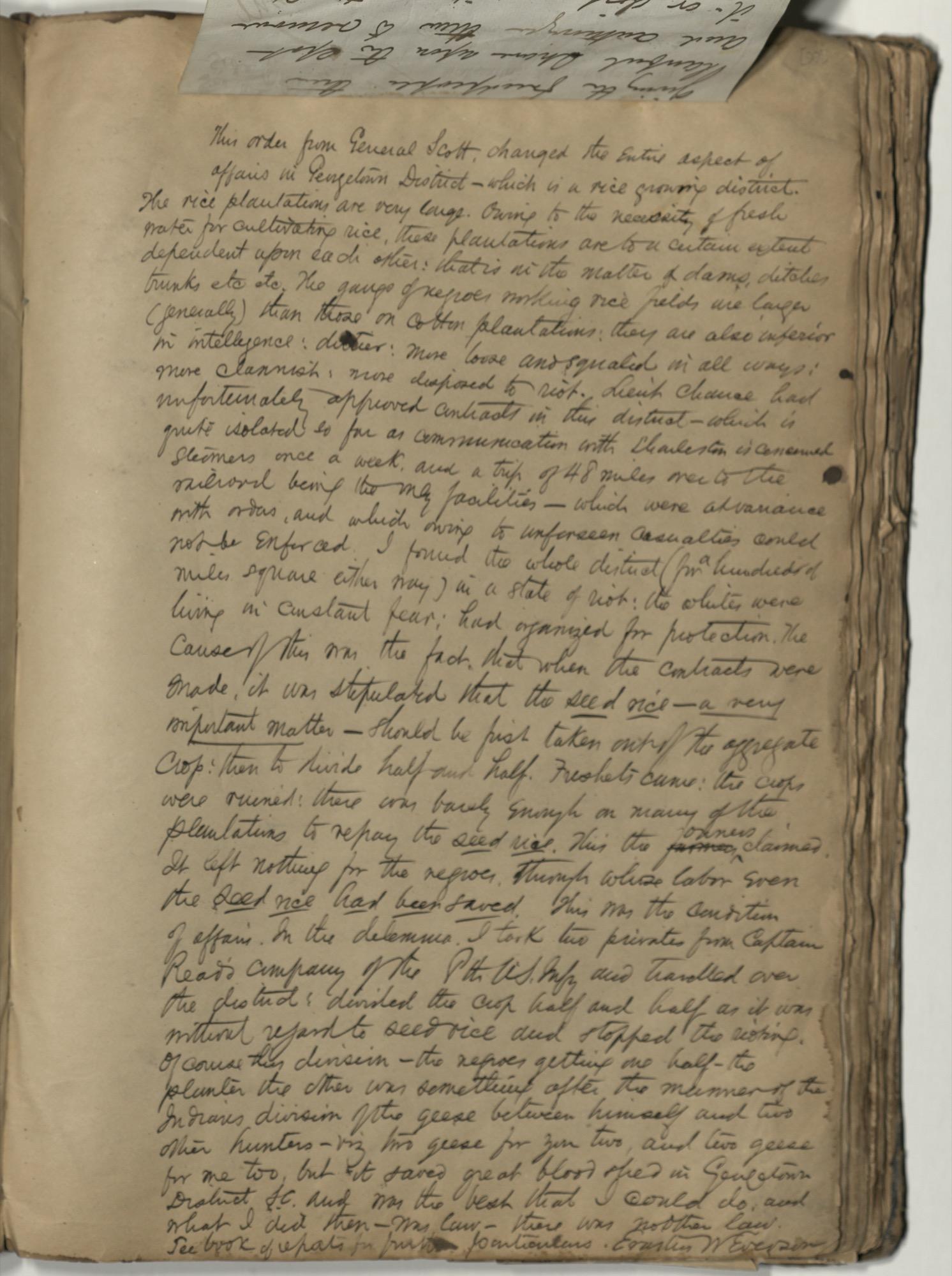 Erastus Everson Diary 1861-1893, page 91