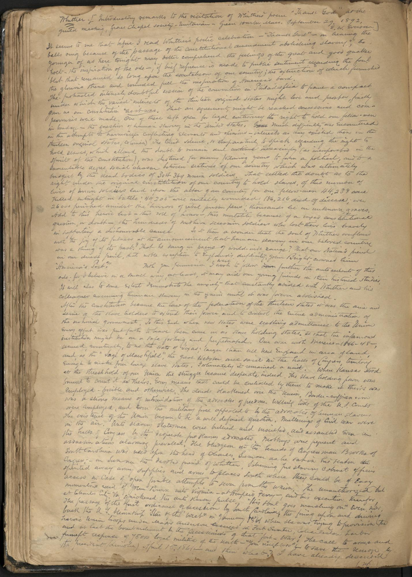 Erastus Everson Diary 1861-1893, page 92