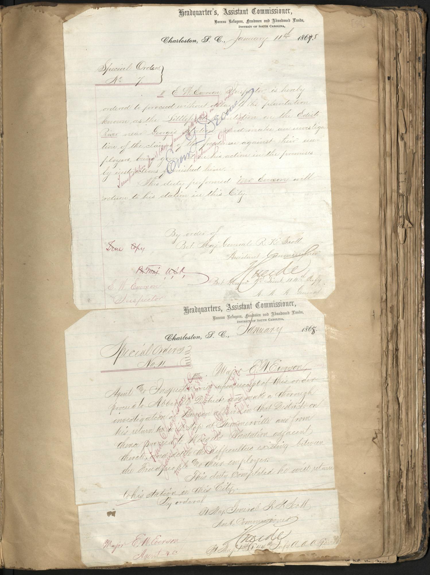 Erastus Everson Diary 1861-1893, page 95