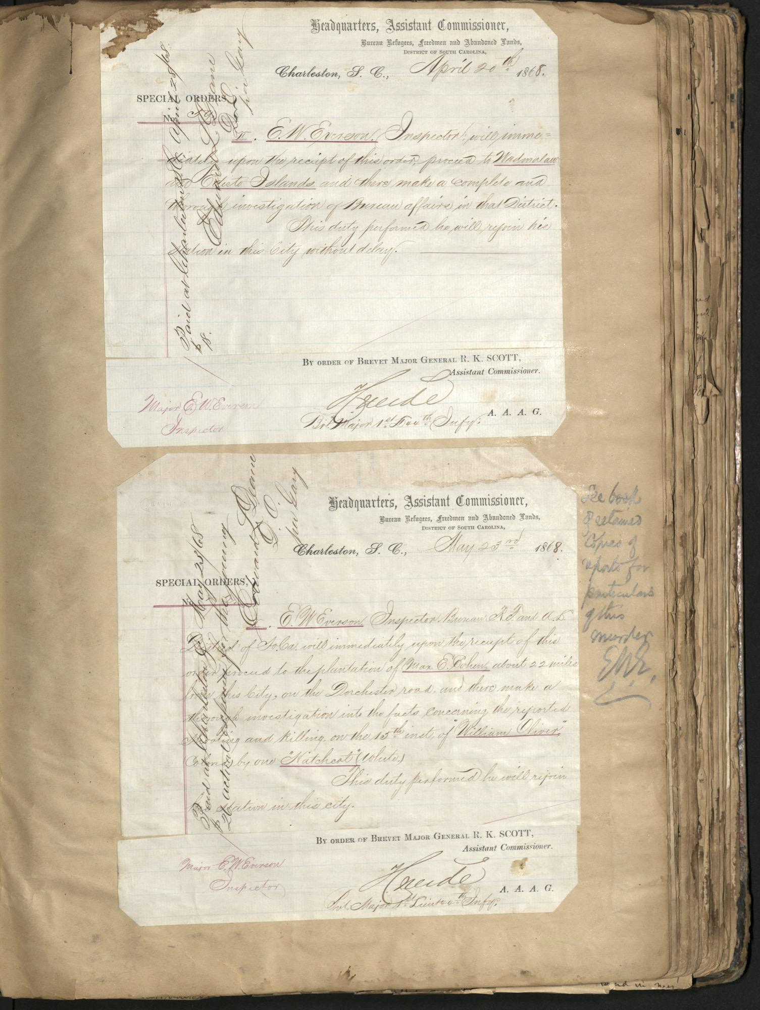 Erastus Everson Diary 1861-1893, page 99