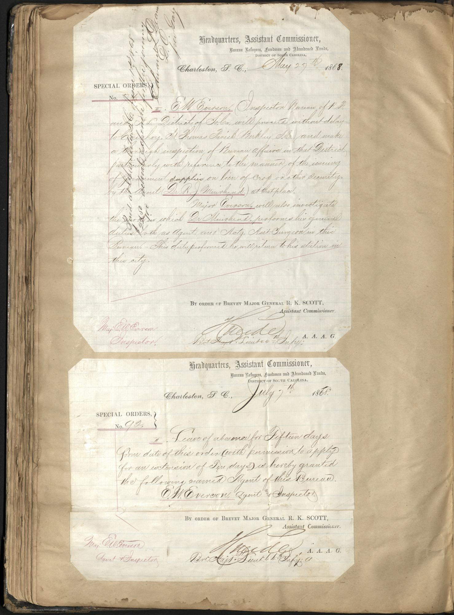 Erastus Everson Diary 1861-1893, page 100