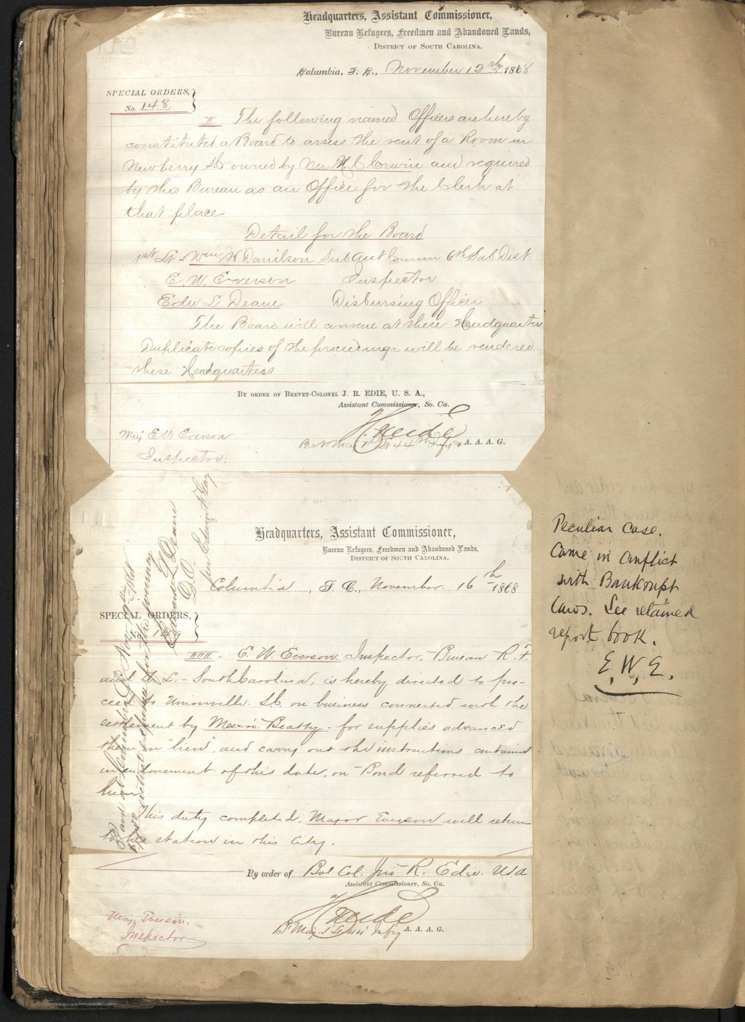 Erastus Everson Diary 1861-1893, page 105