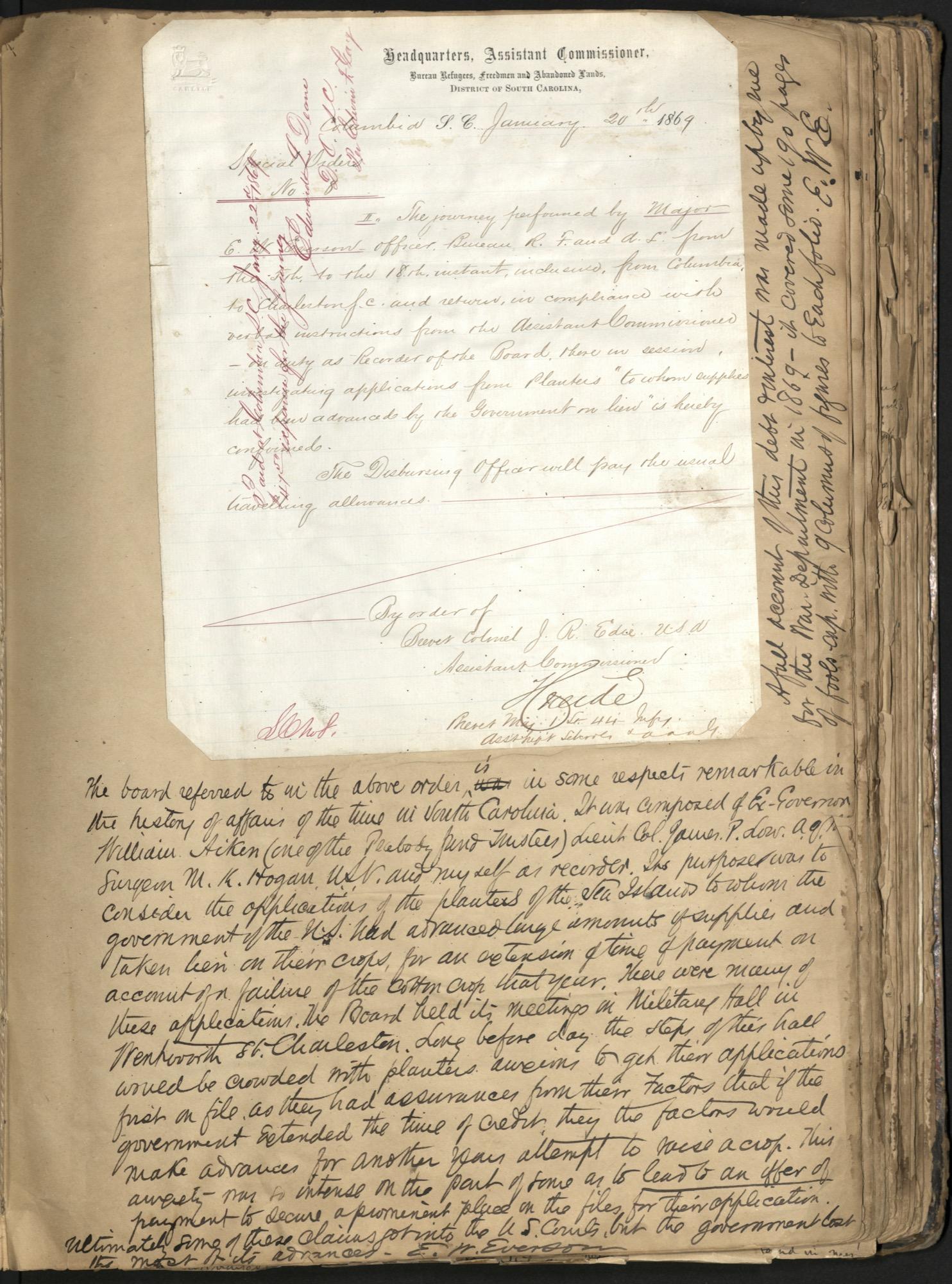 Erastus Everson Diary 1861-1893, page 108