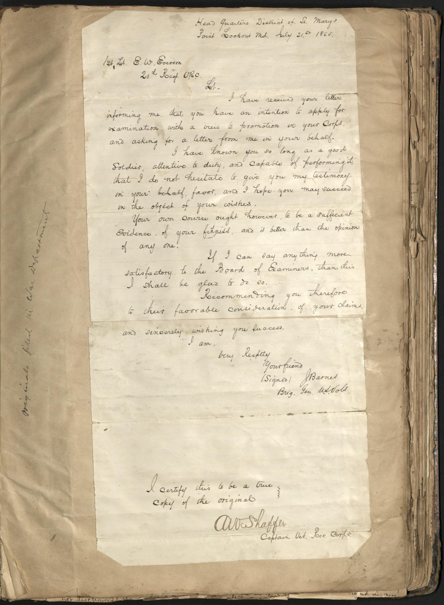 Erastus Everson Diary 1861-1893, page 126