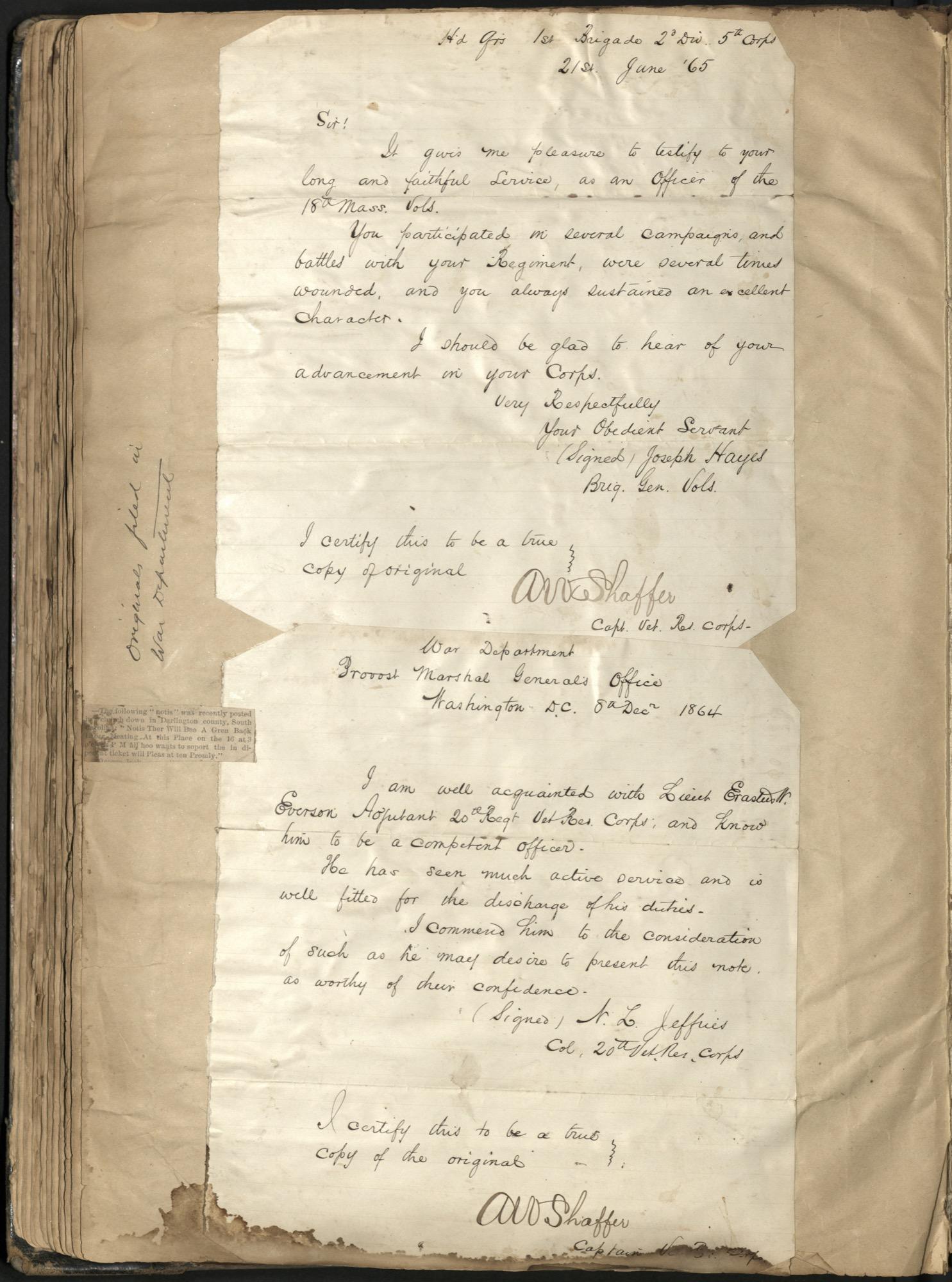 Erastus Everson Diary 1861-1893, page 127
