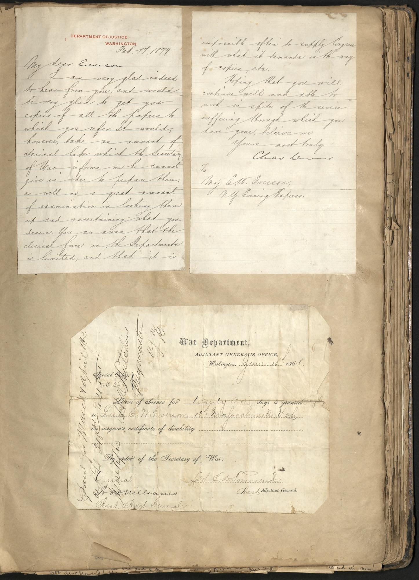 Erastus Everson Diary 1861-1893, page 131