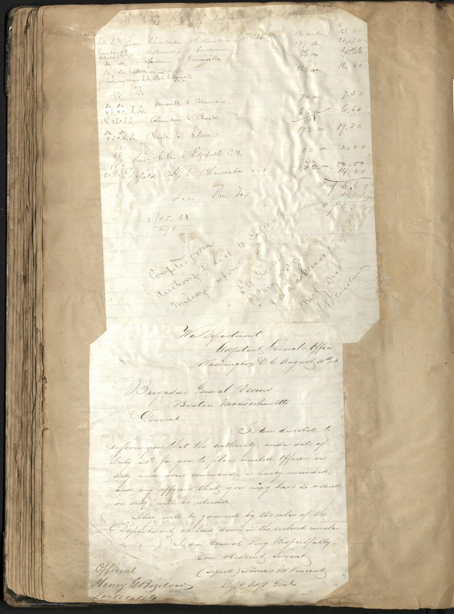 Erastus Everson Diary 1861-1893, page 132