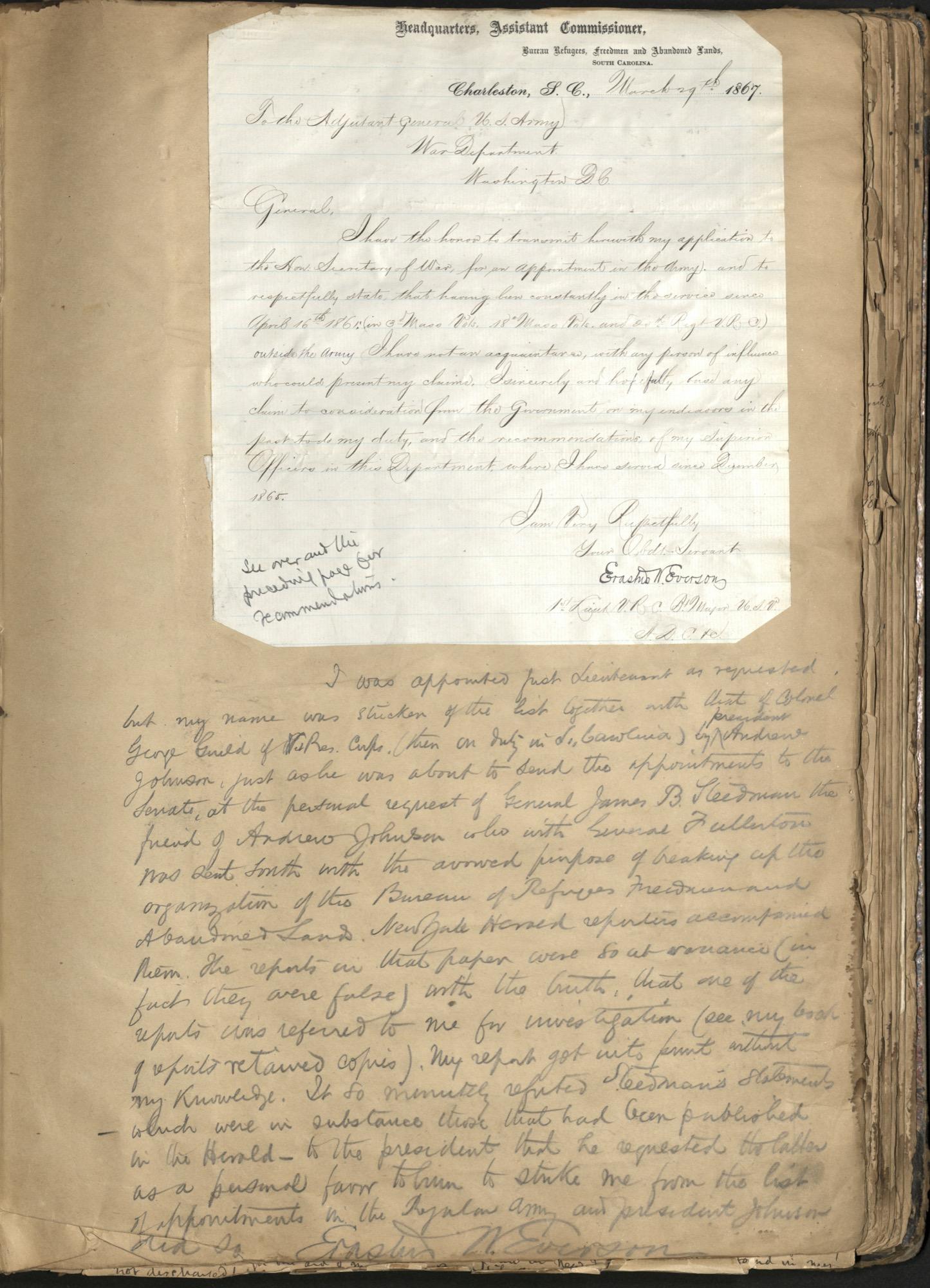 Erastus Everson Diary 1861-1893, page 137