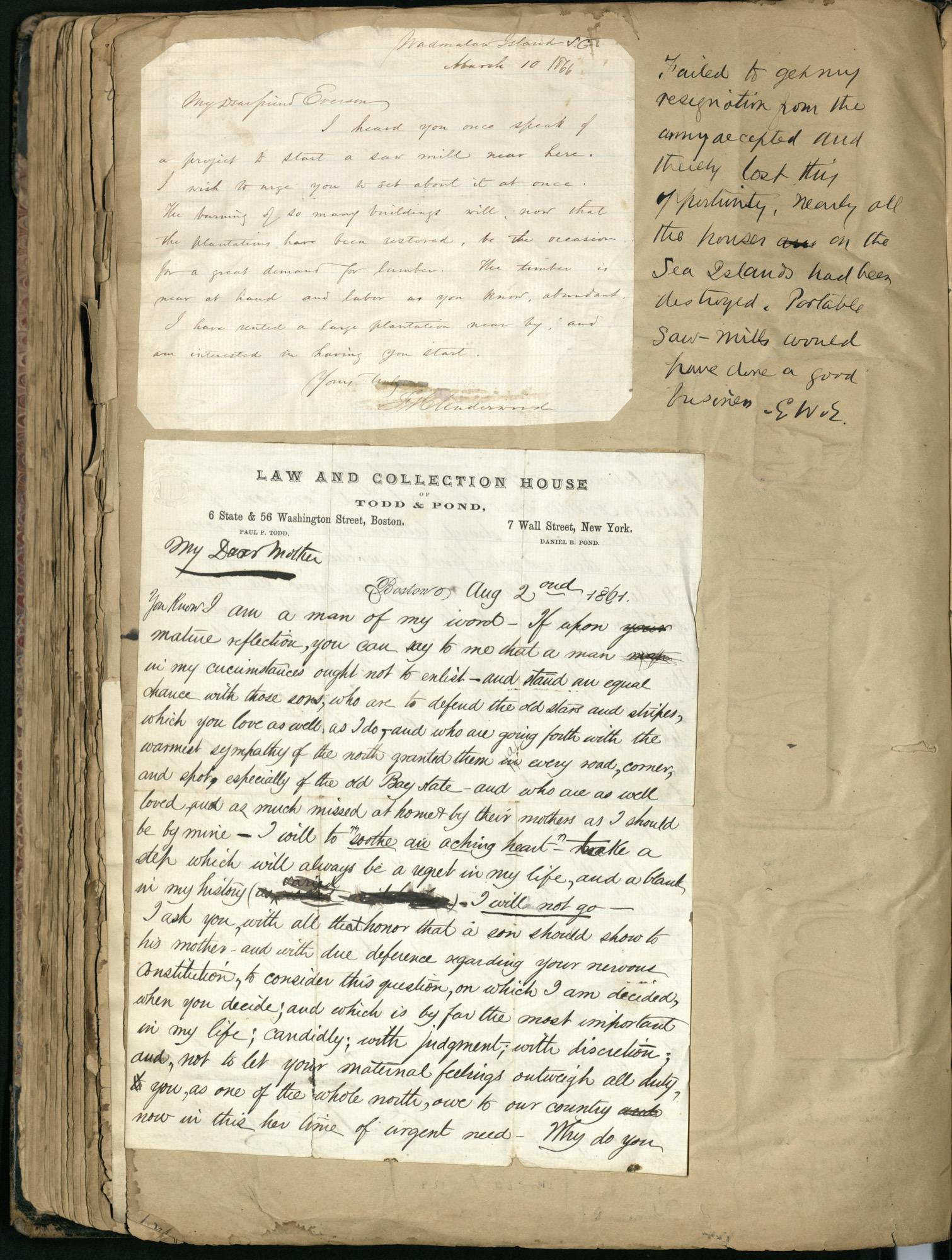 Erastus Everson Diary 1861-1893, page 157
