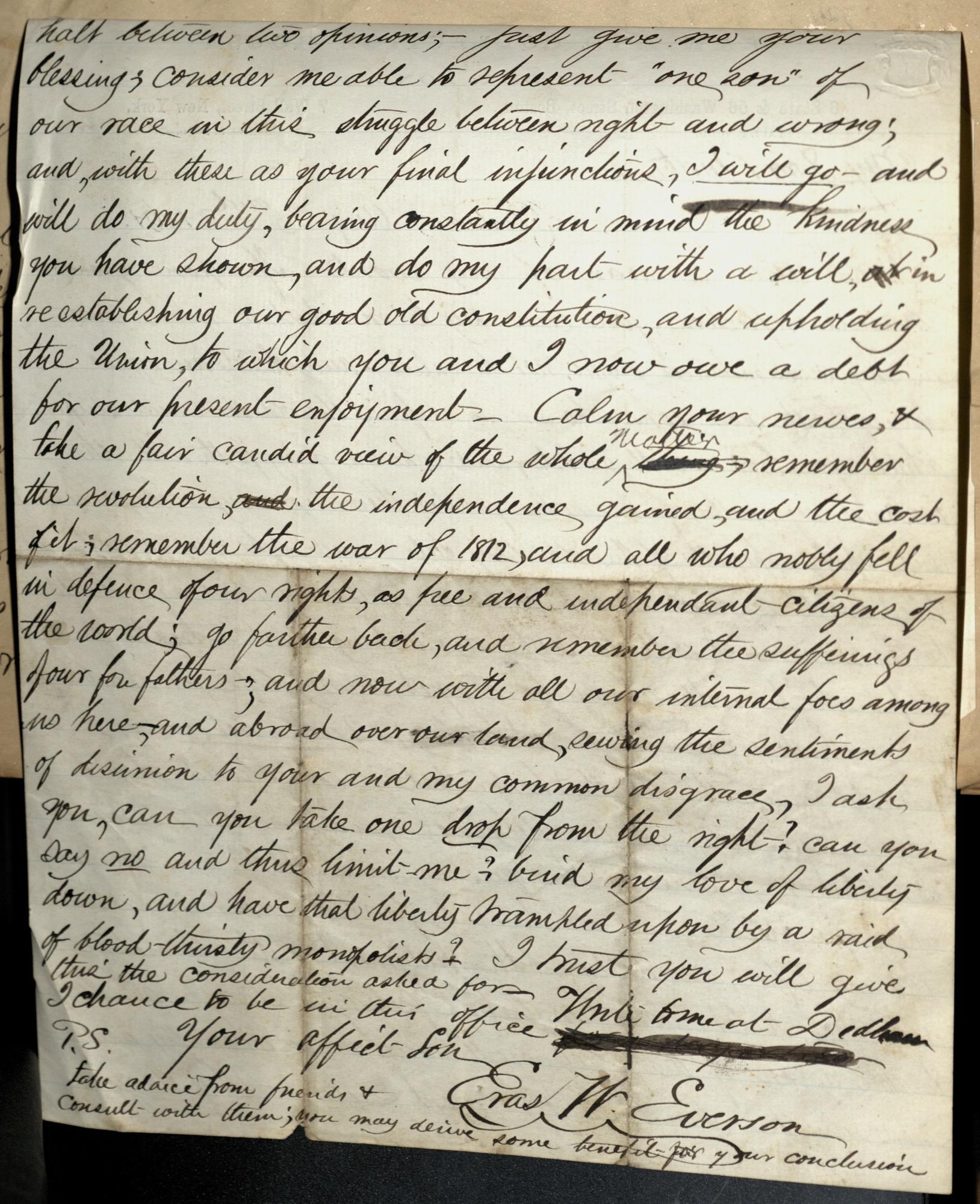 Erastus Everson Diary 1861-1893, page 158