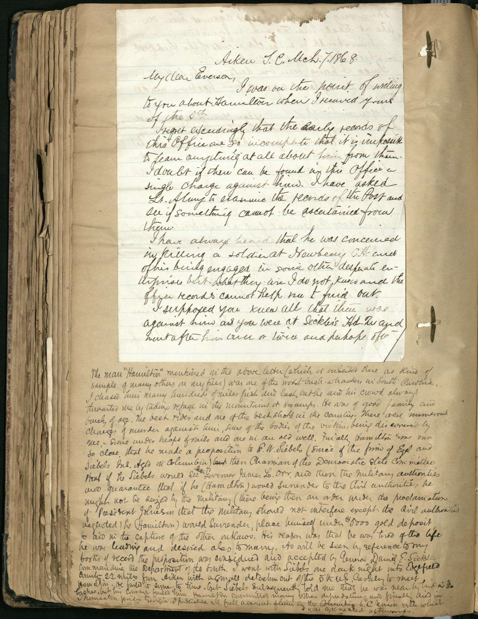 Erastus Everson Diary 1861-1893, page 209