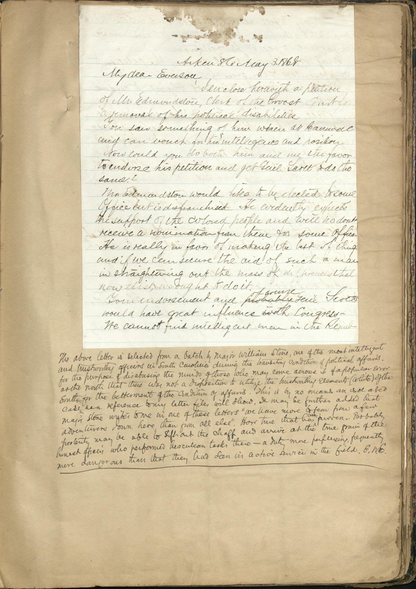 Erastus Everson Diary 1861-1893, page 210