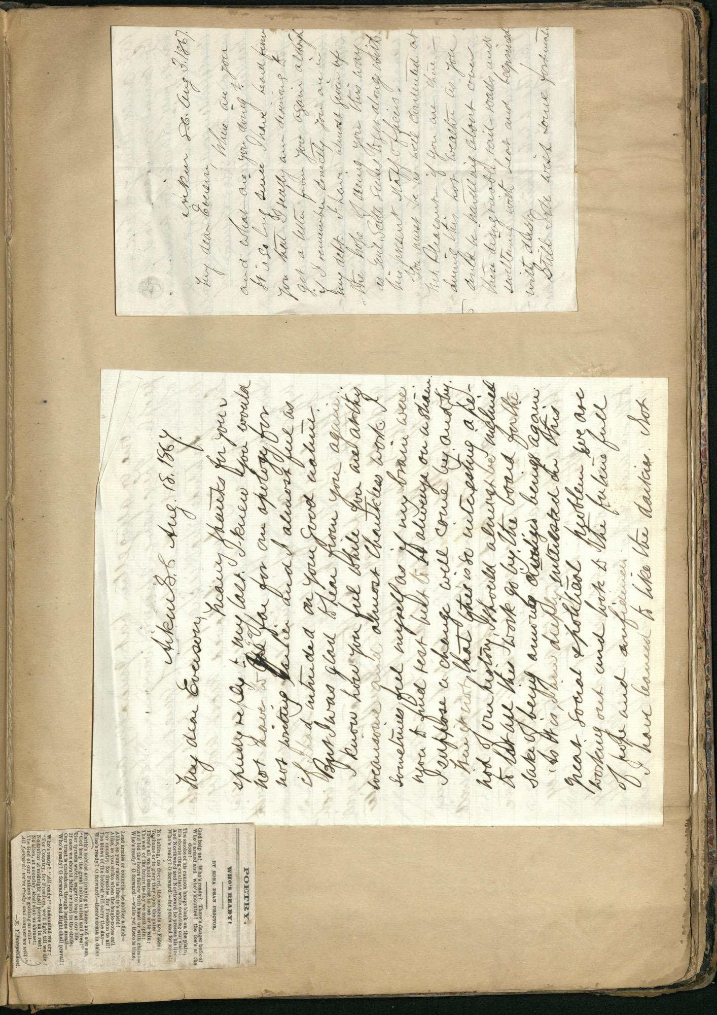 Erastus Everson Diary 1861-1893, page 215