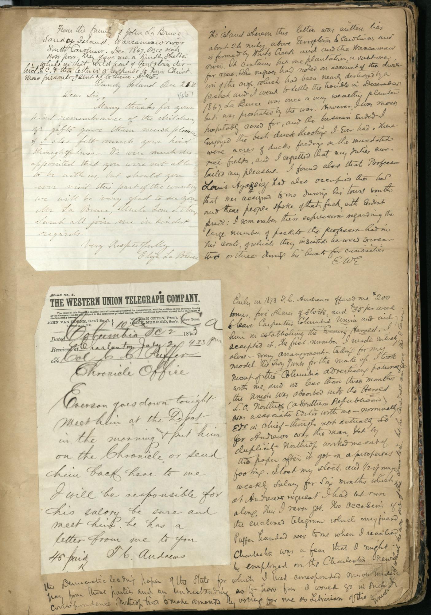 Erastus Everson Diary 1861-1893, page 231