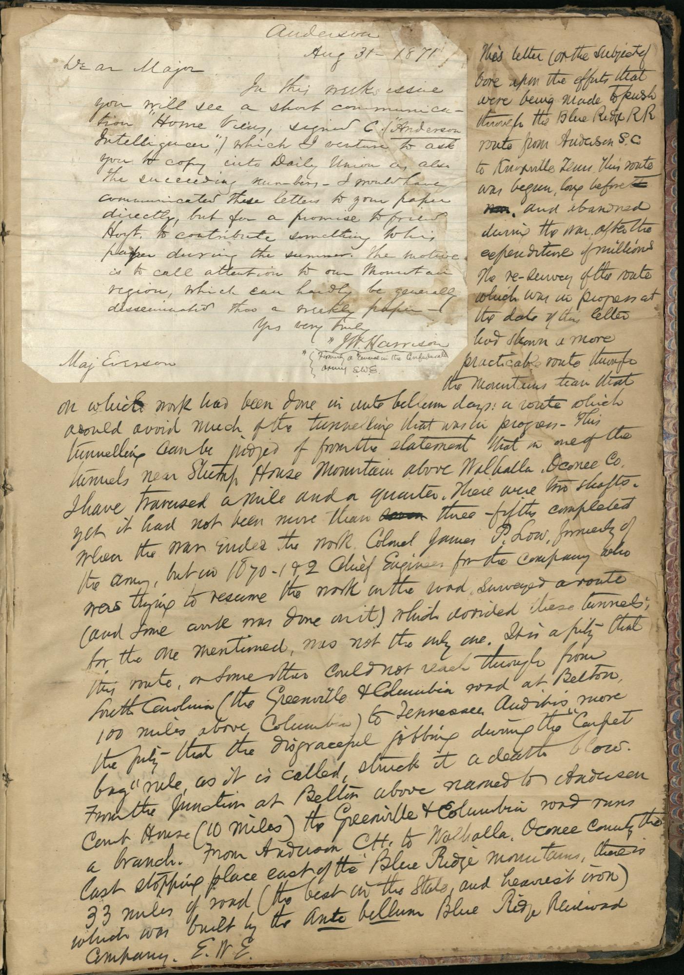 Erastus Everson Diary 1861-1893, page 255